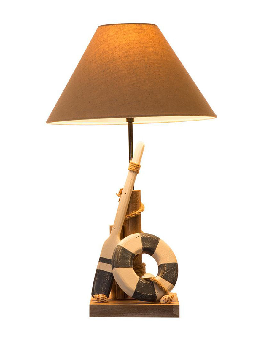 Glitzhome Orange Multi Decorative Objects Table Lamps Home Accents Lighting & Lamps