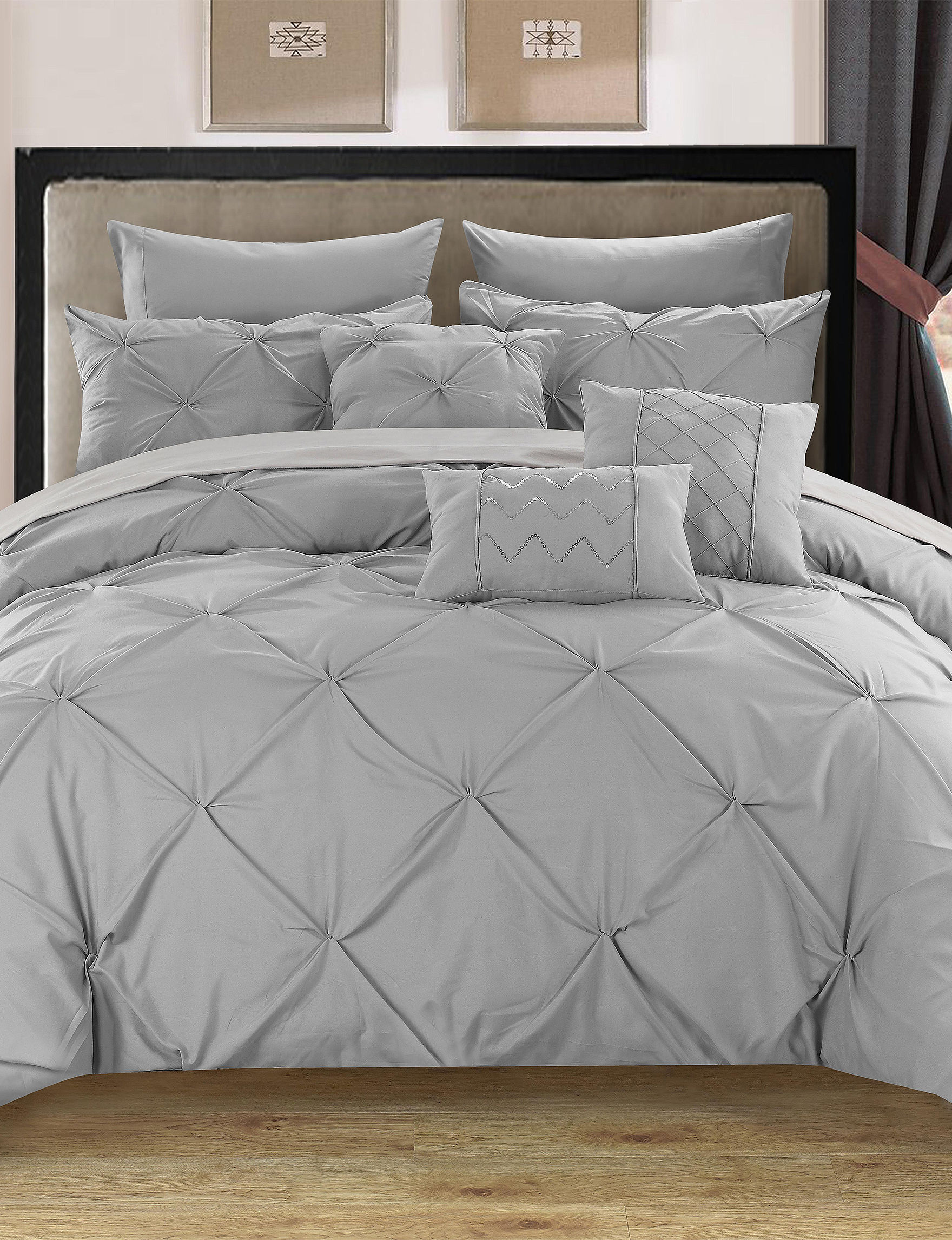 Chic Home Design Silver Comforters & Comforter Sets