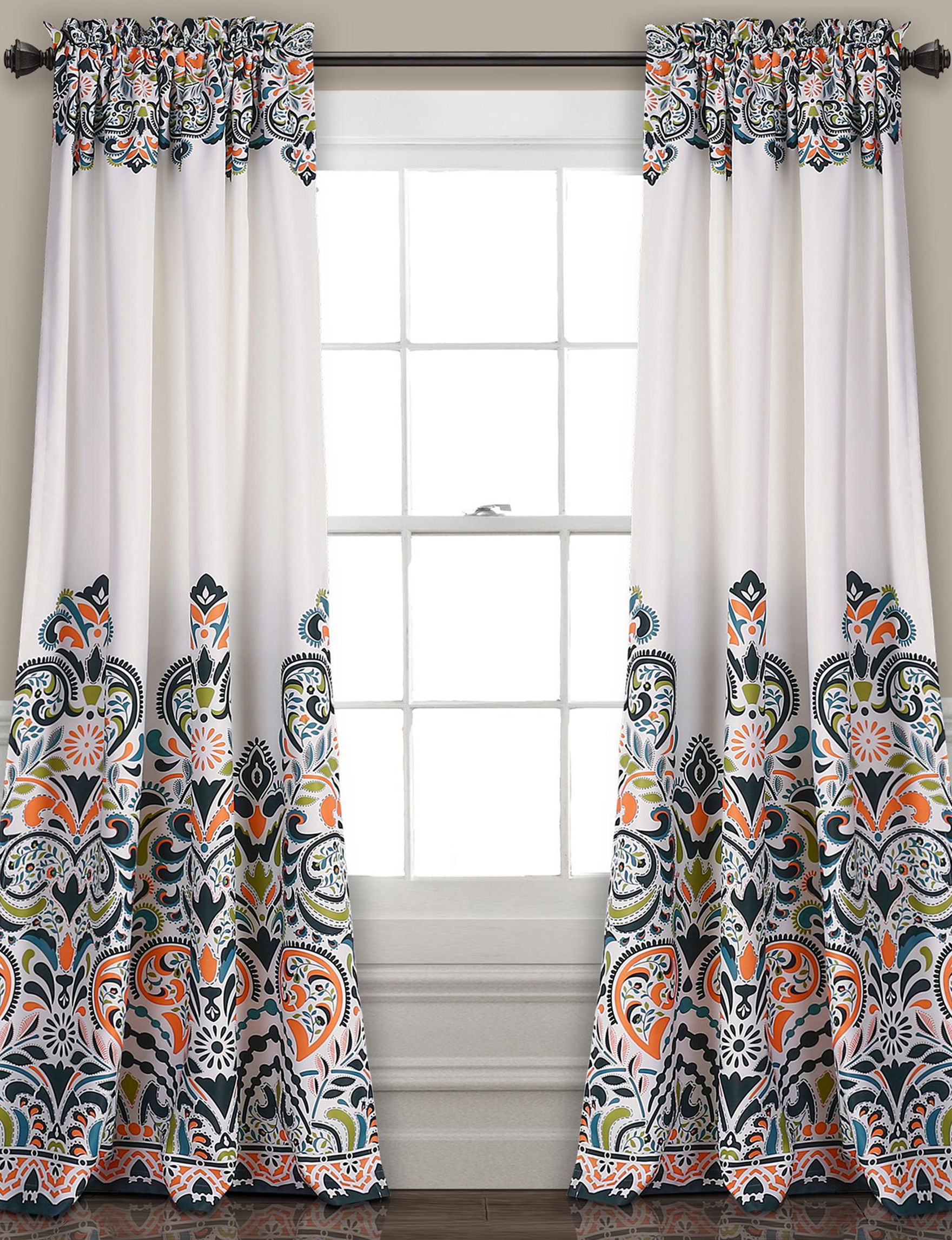 Half Moon Navy Curtains Drapes Window Treatments