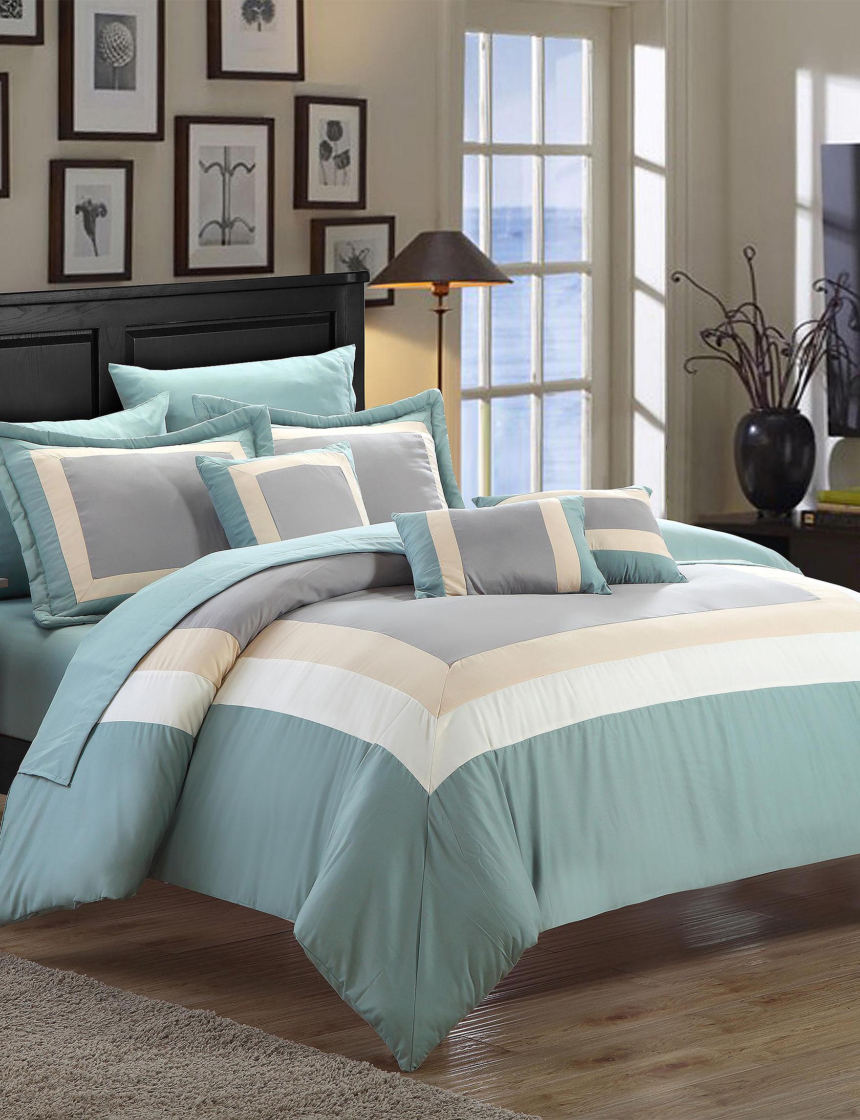 Chic Home Design Aqua Comforters U0026 Comforter Sets