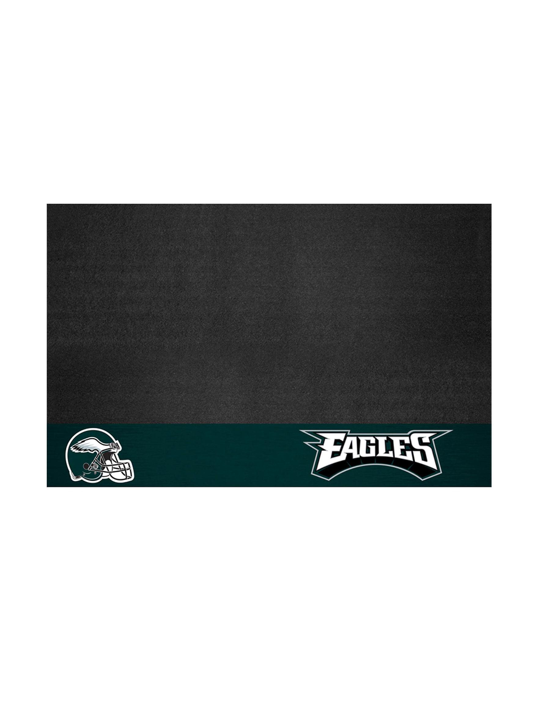 Fanmats Black /  Green Outdoor Rugs & Doormats Outdoor Decor
