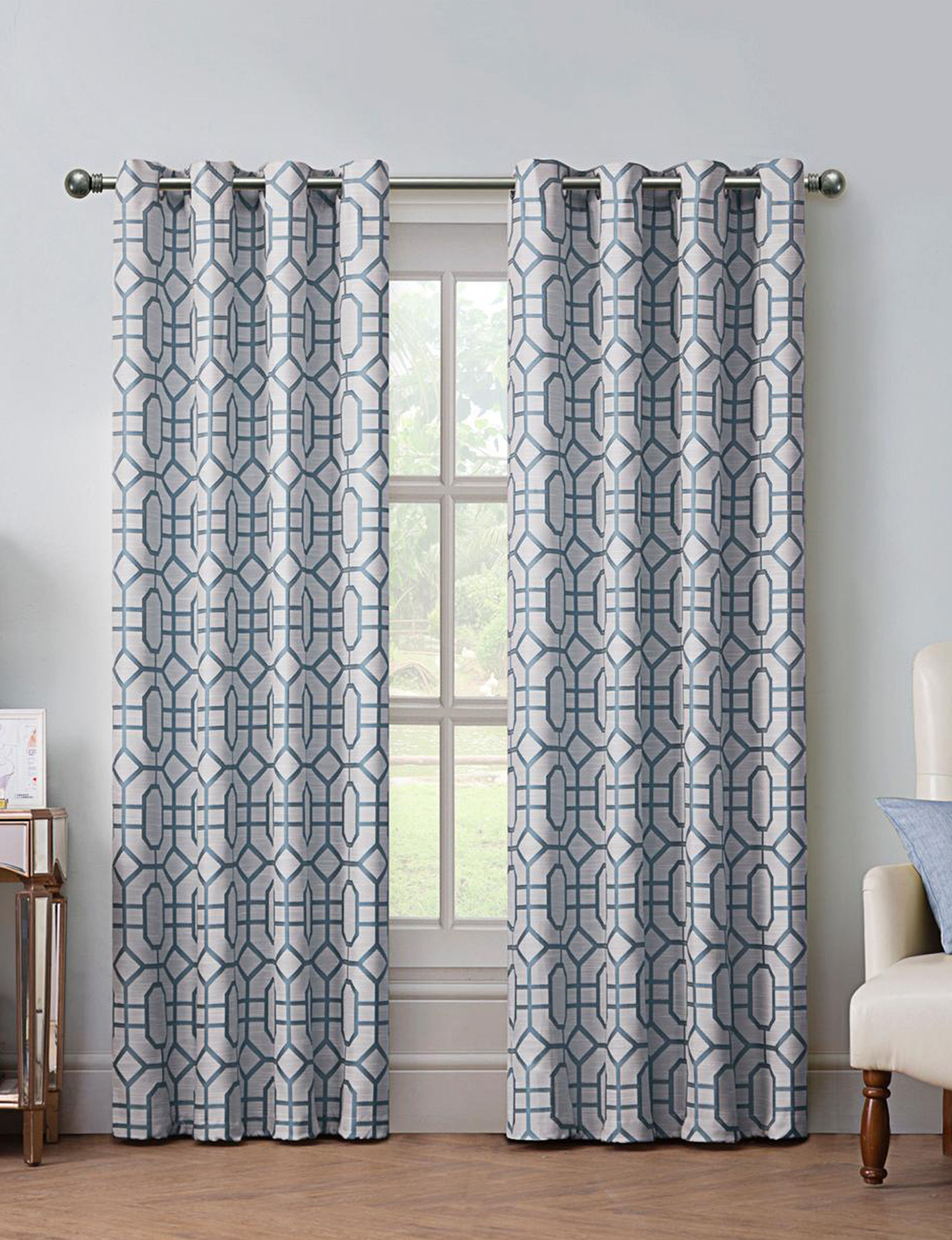 VCNY Home Blue Curtains & Drapes Window Treatments