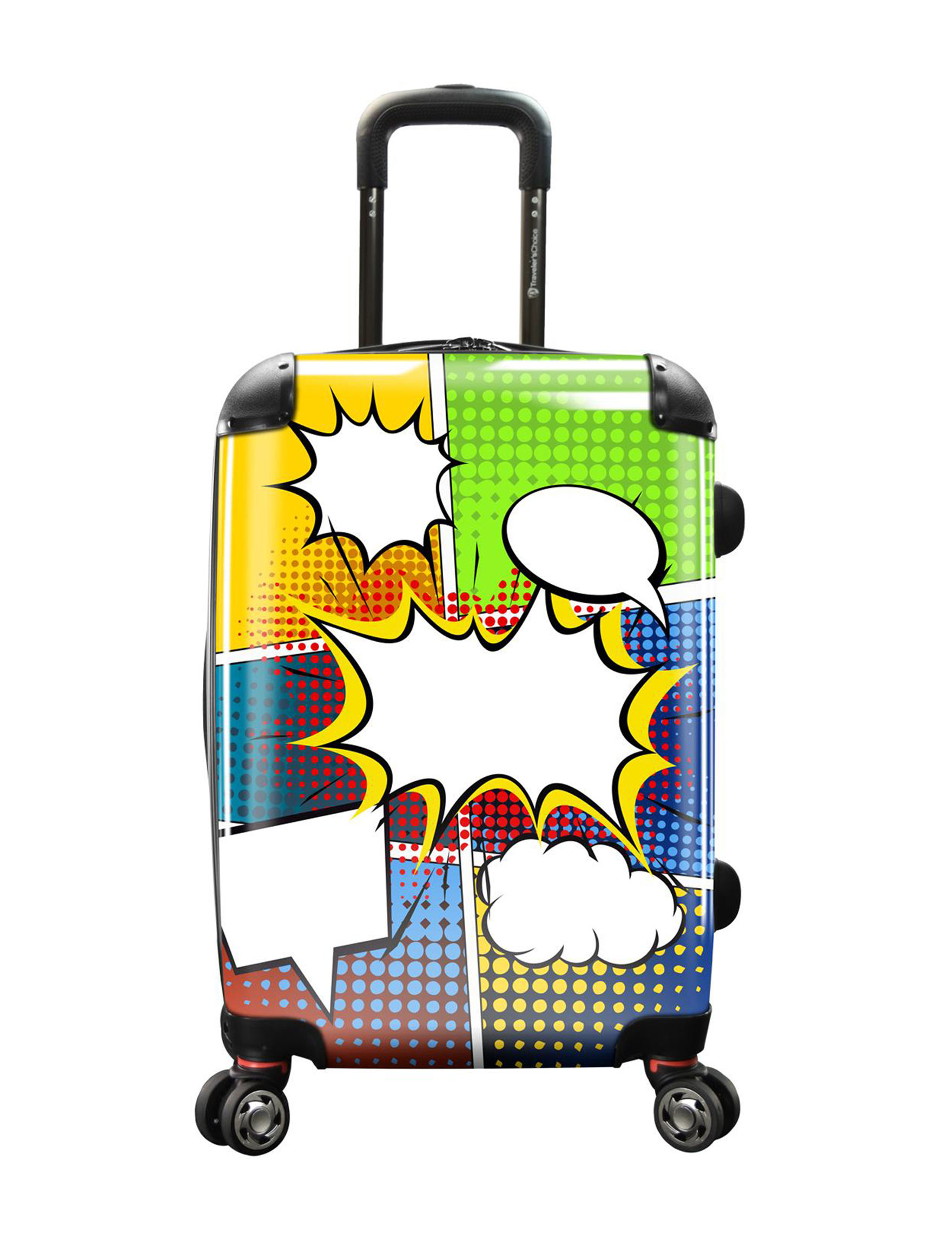 Travelers Choice Black Multi Carry On Luggage