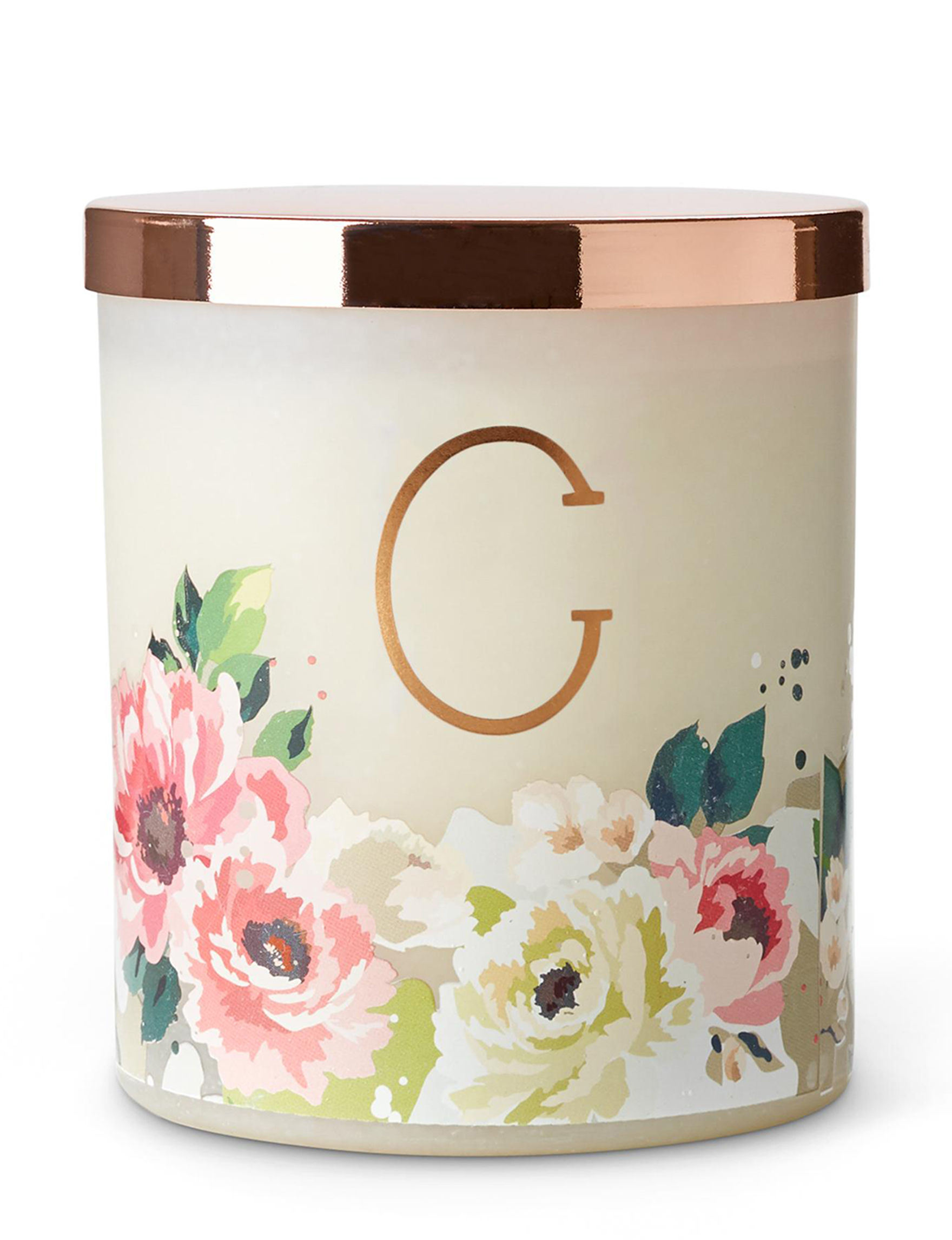 Tri-Coastal Design White Candles Monogram Candles & Diffusers Home Accents