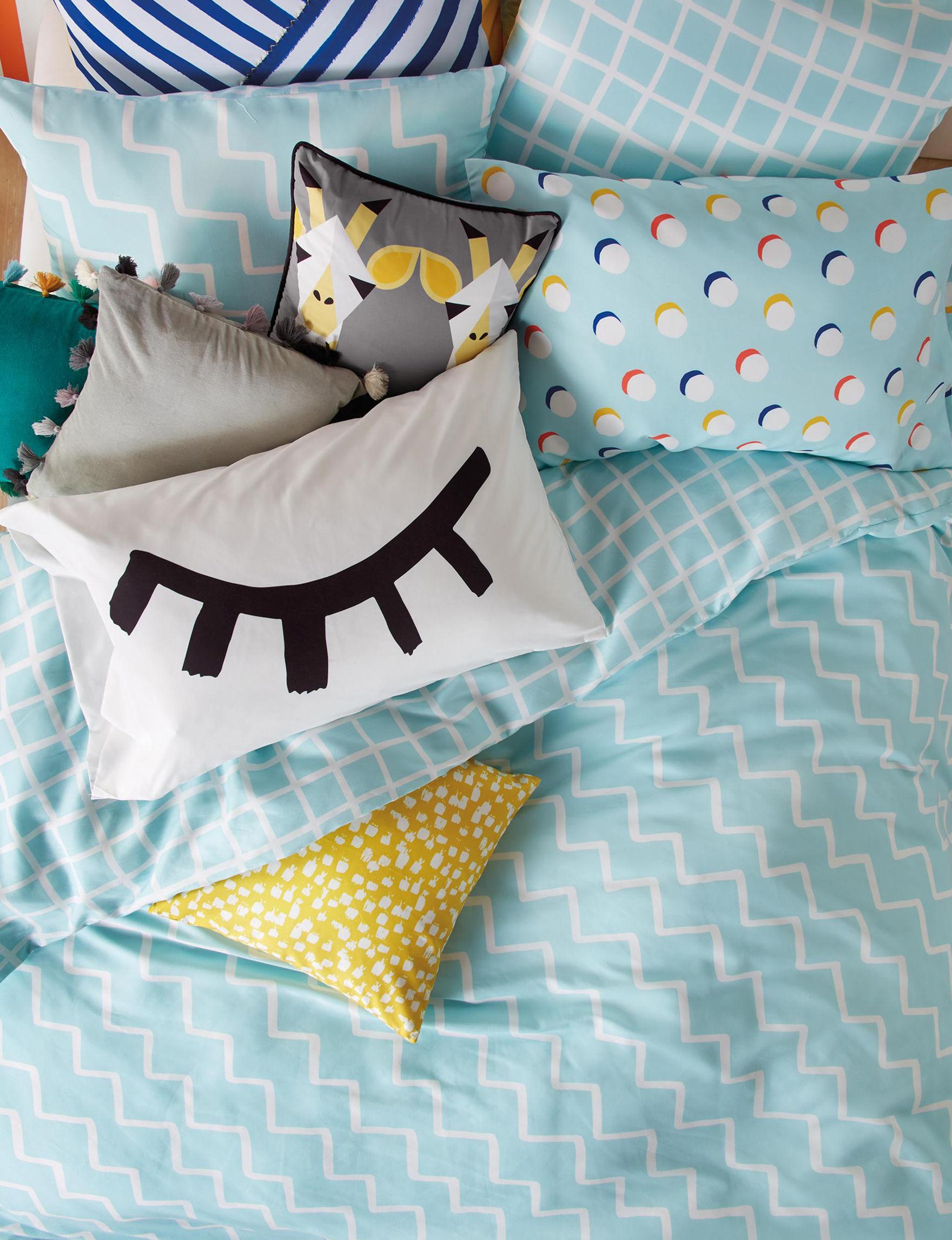 Scribble Aqua Comforters & Comforter Sets