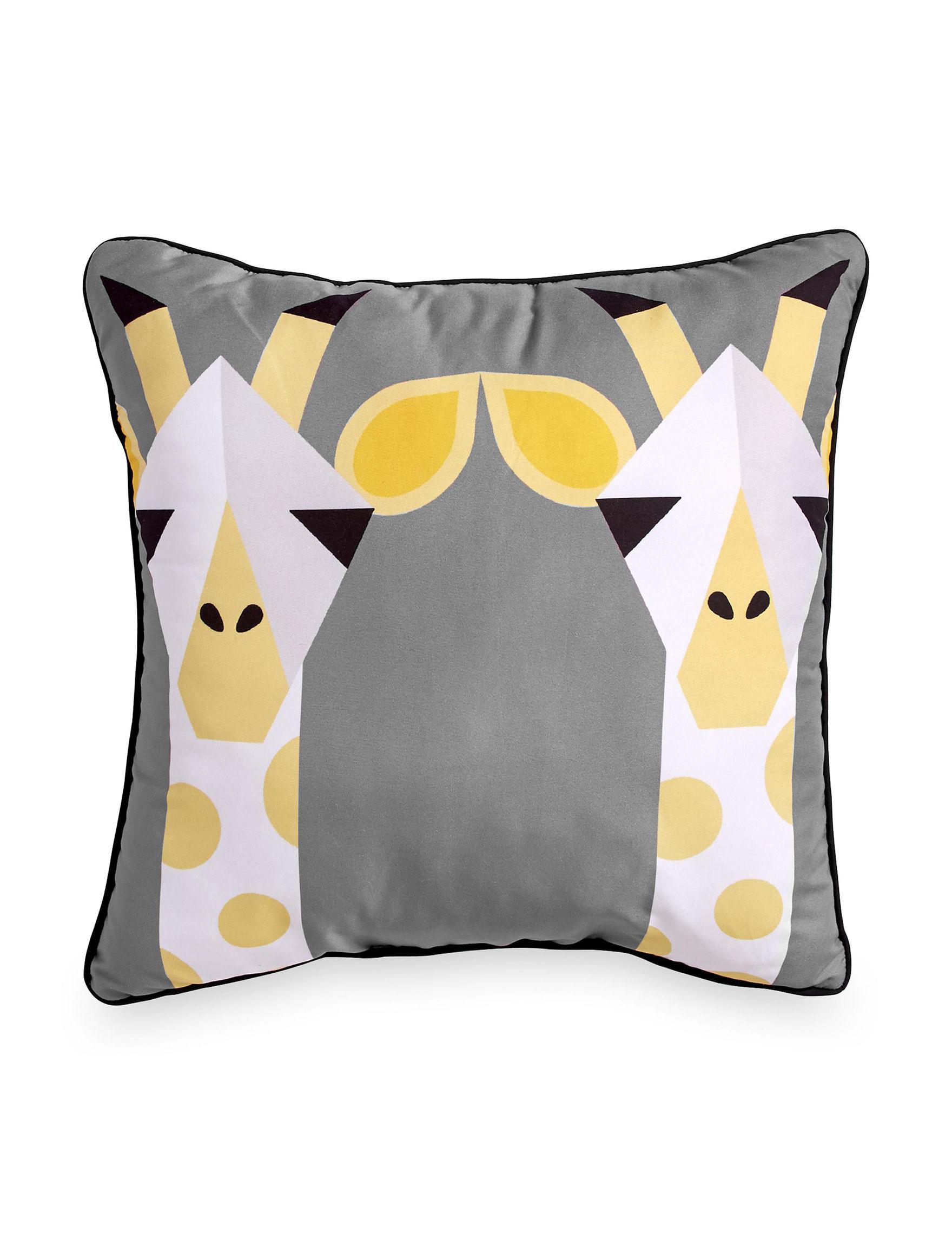 Scribble Gold Decorative Pillows