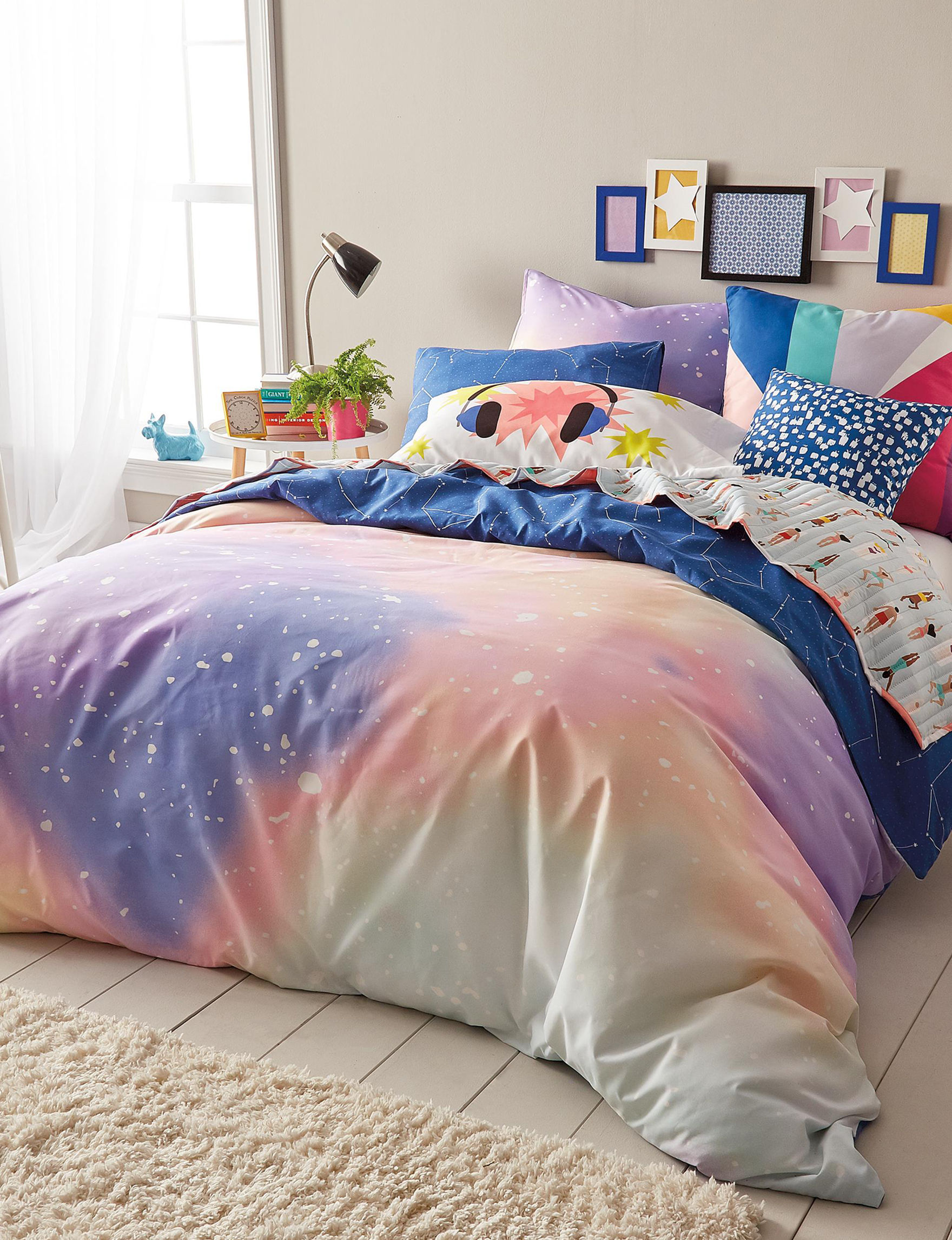Scribble Purple Multi Comforters & Comforter Sets