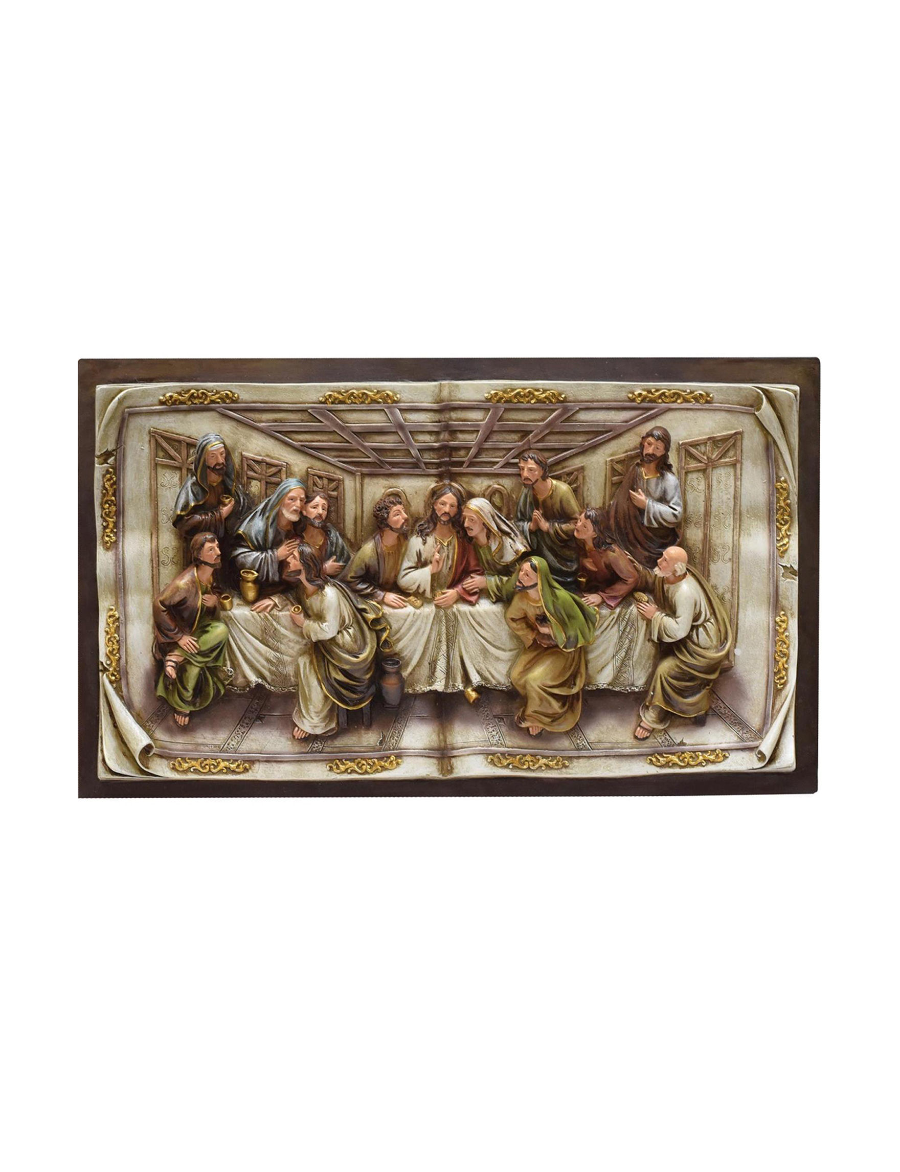 Northlight Brown Multi Decorative Objects Wall Art Holiday Decor Home Accents Wall Decor