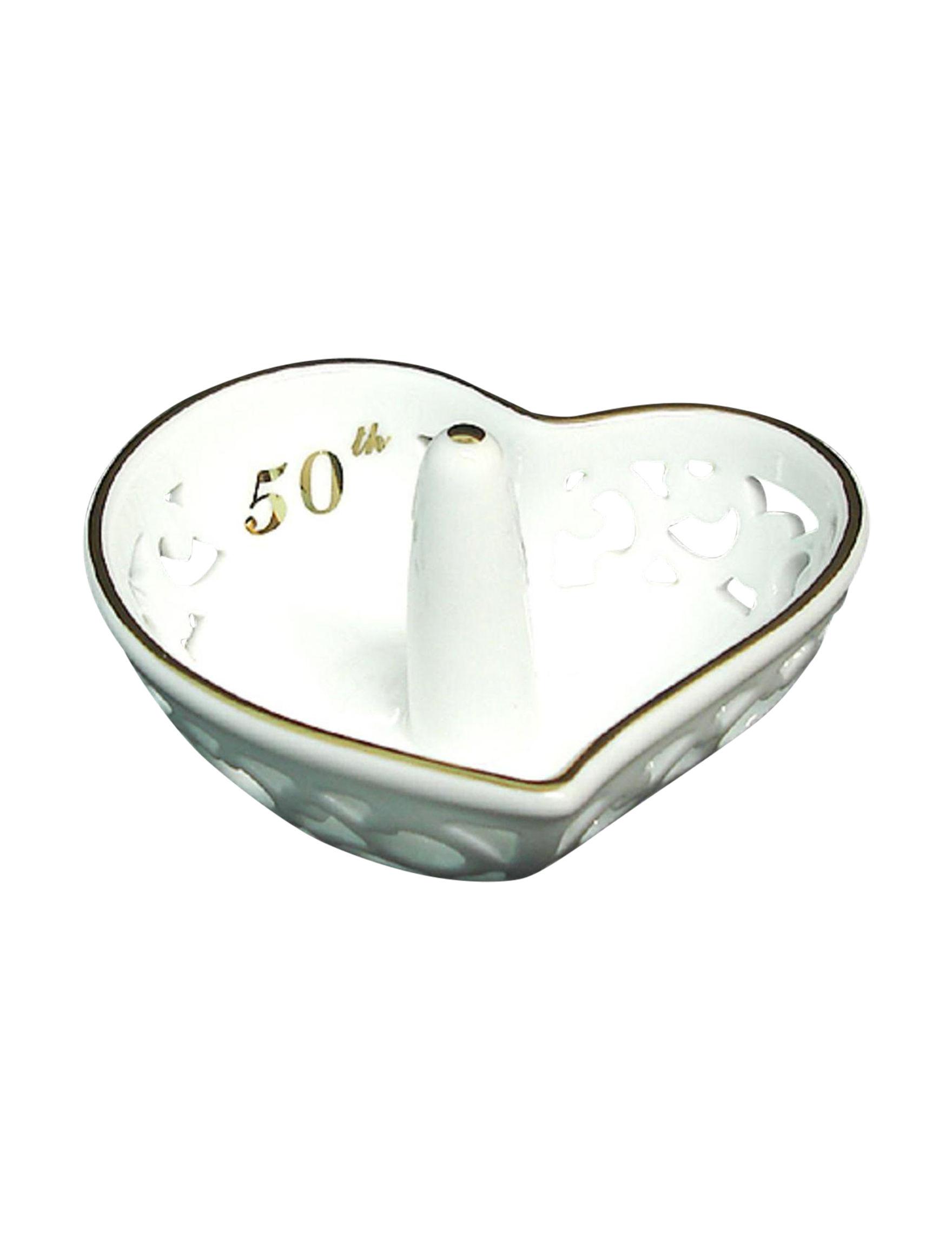Roman White / Gold Jewelry Storage & Organization