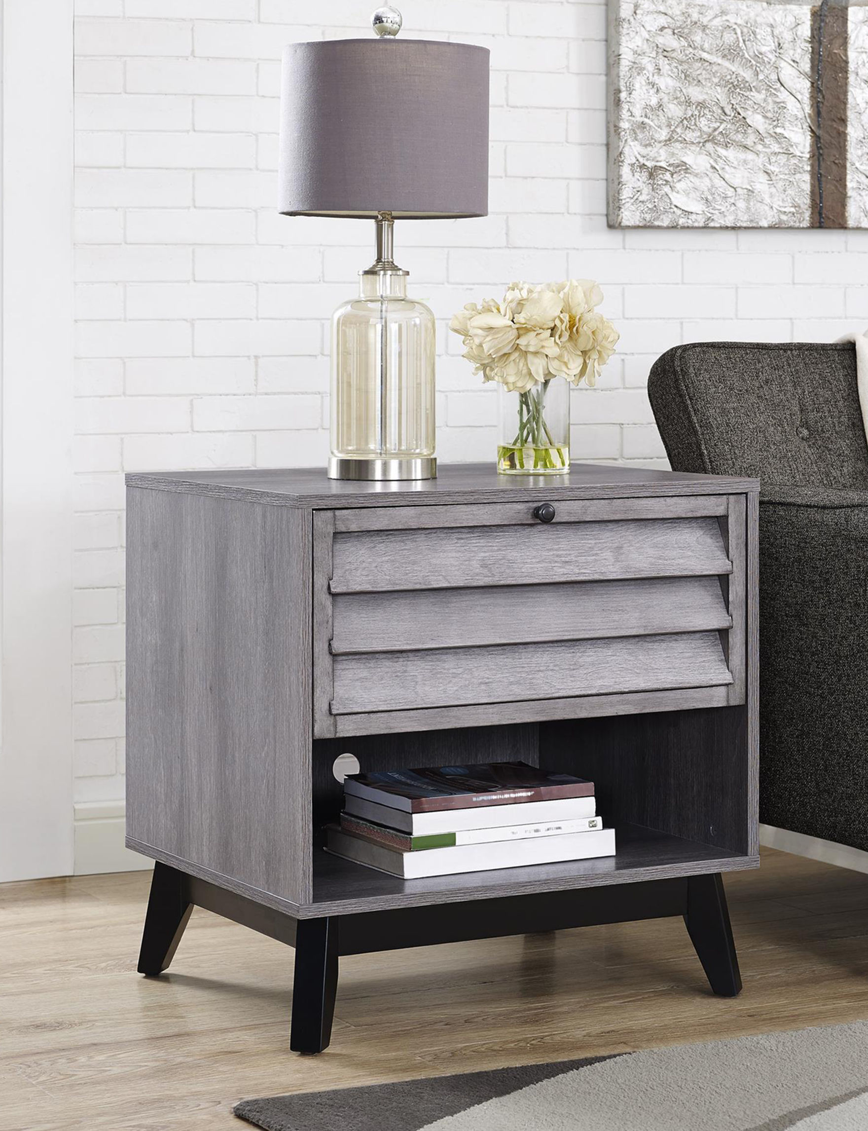Ameriwood Grey Accent & End Tables Living Room Furniture