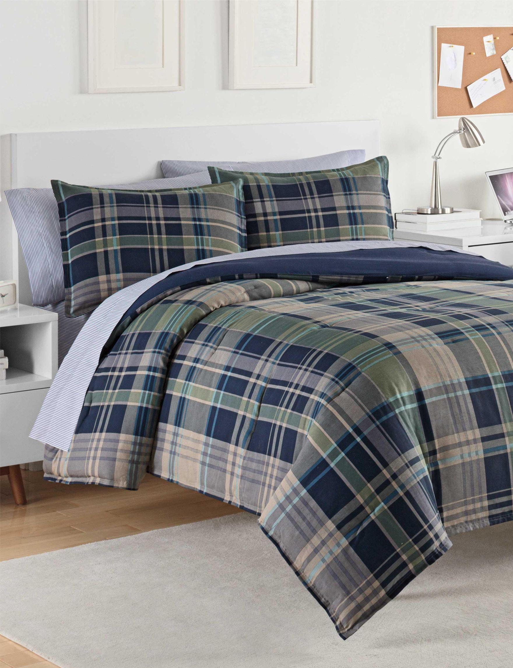 Izod Blue / Grey Comforters & Comforter Sets