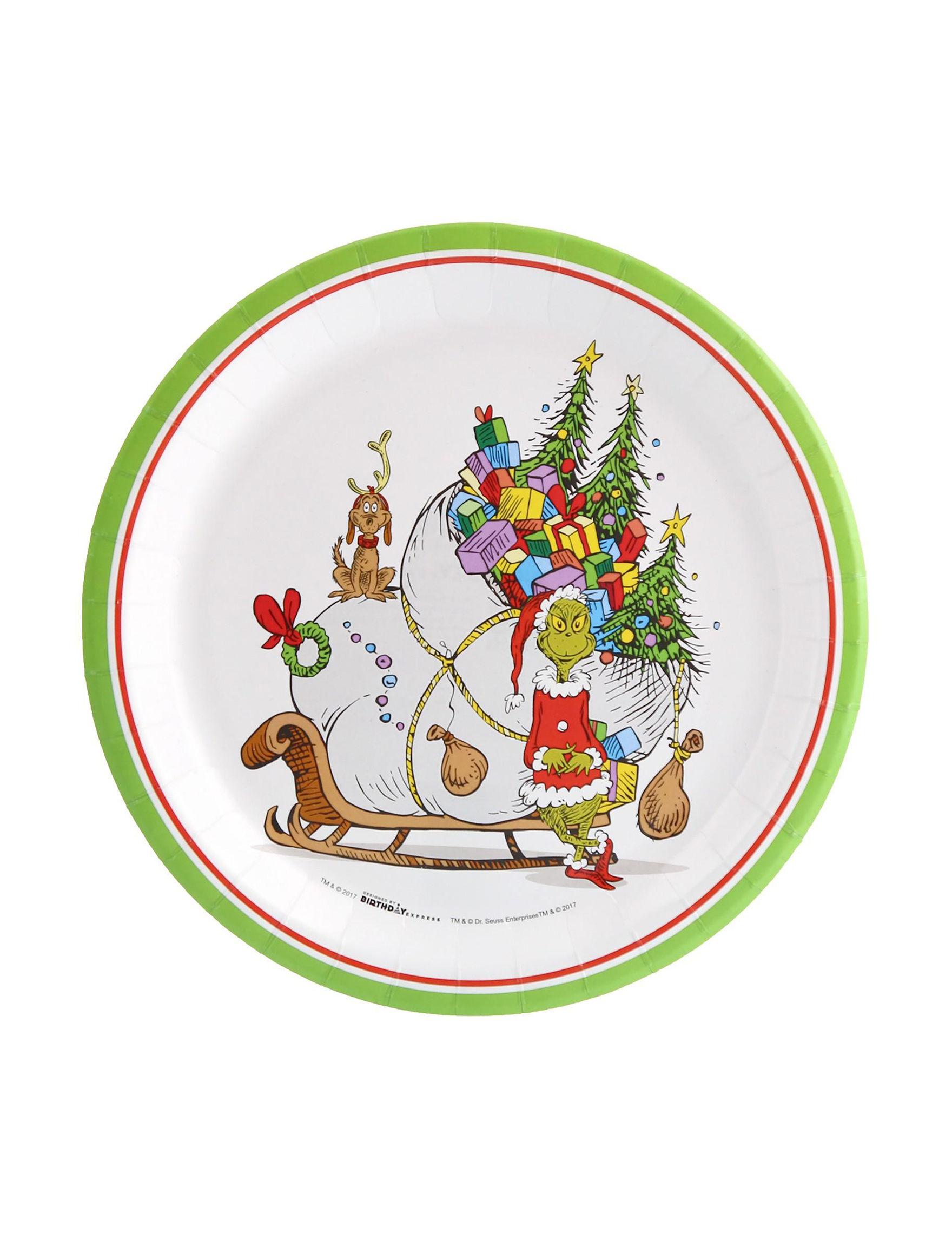 BuySeasons White Multi Decorative Objects Holiday Dining u0026 Entertaining Holiday Decor Serveware  sc 1 st  Stage Stores & 8-pk. Dr. Seussu0027s