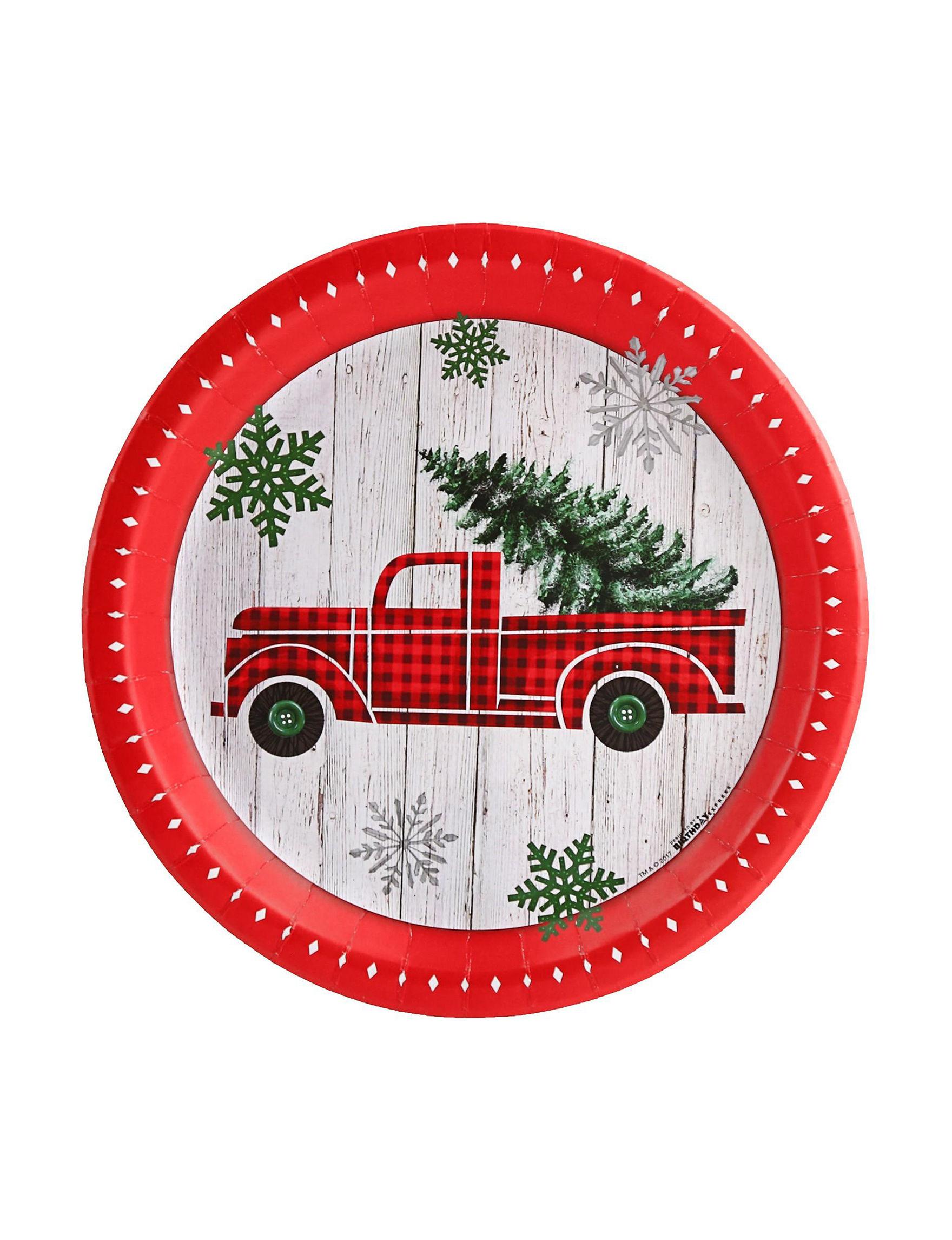 BuySeasons Red Multi Decorative Objects Holiday Dining & Entertaining Holiday Decor Serveware