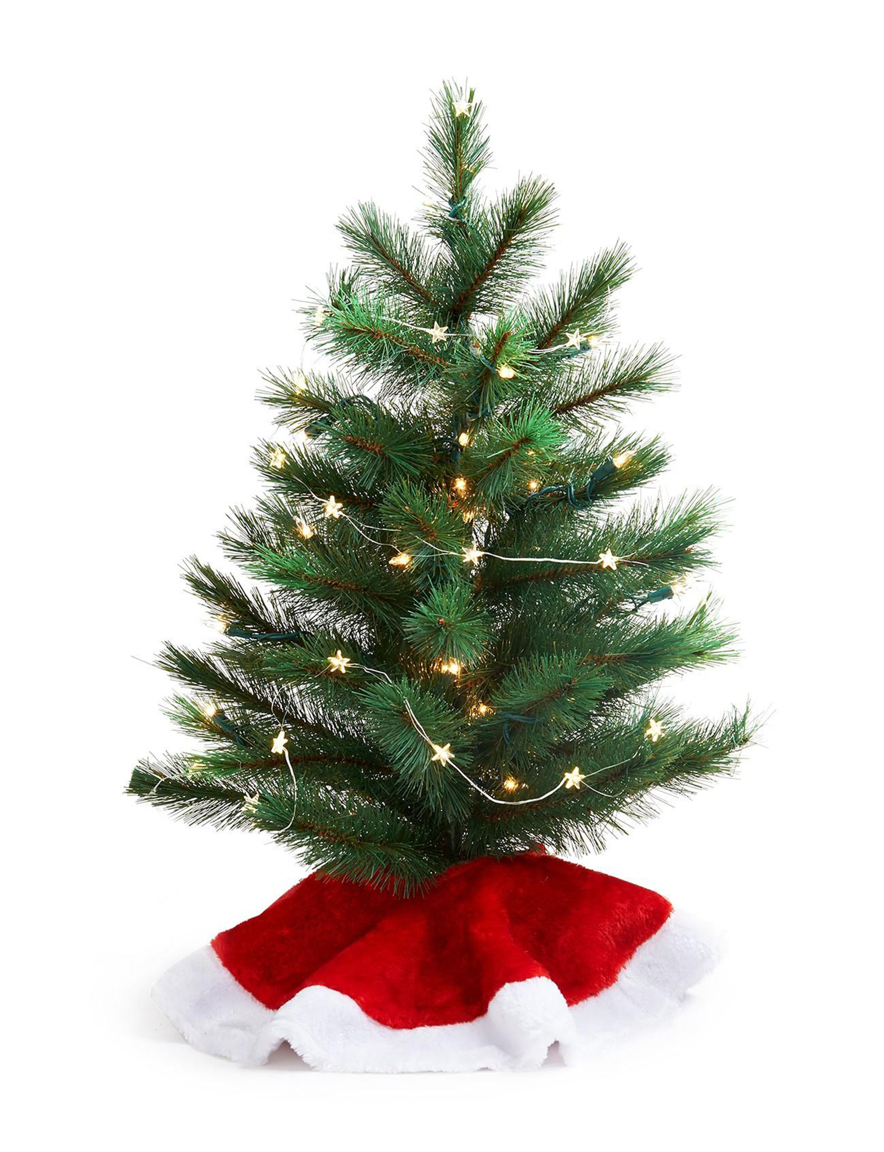 BuySeasons Green / Red Christmas Trees Decorative Objects Holiday Decor