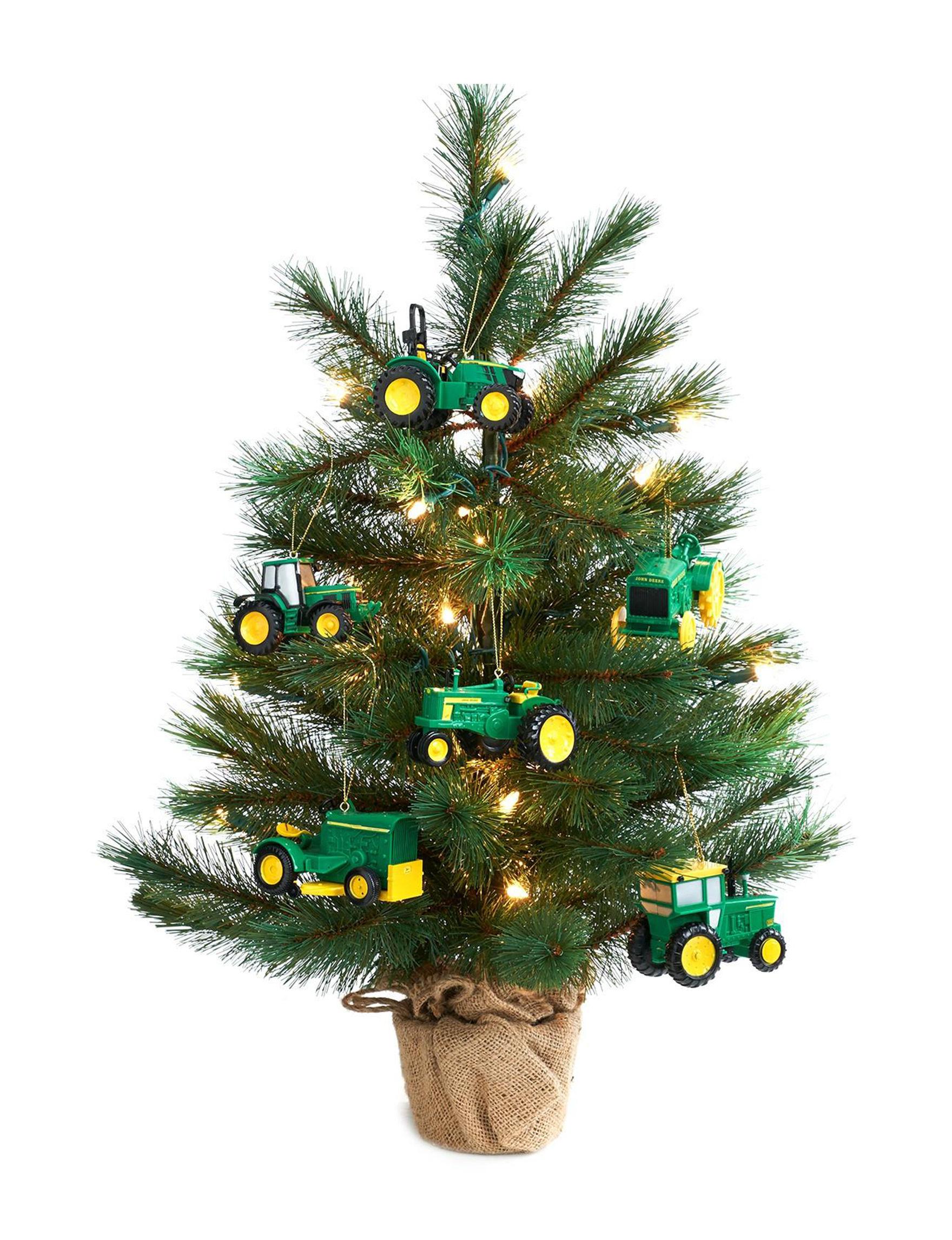 BuySeasons Green / Yellow Christmas Trees Decorative Objects Holiday Decor