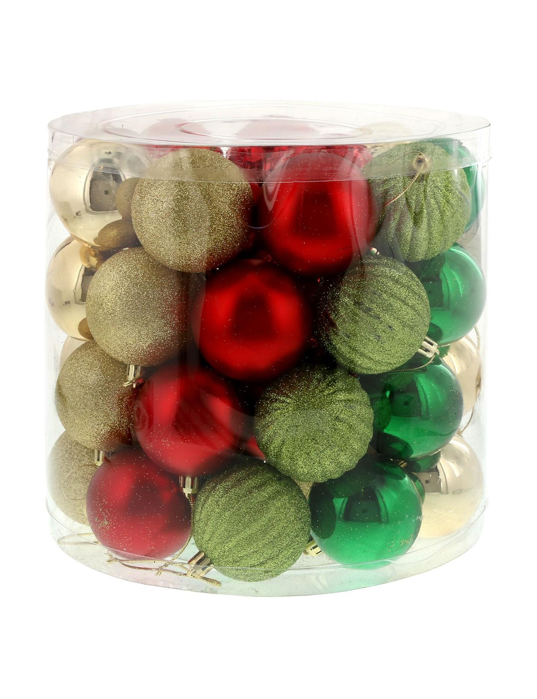BuySeasons Green / Red Decorative Objects Ornaments Holiday Decor