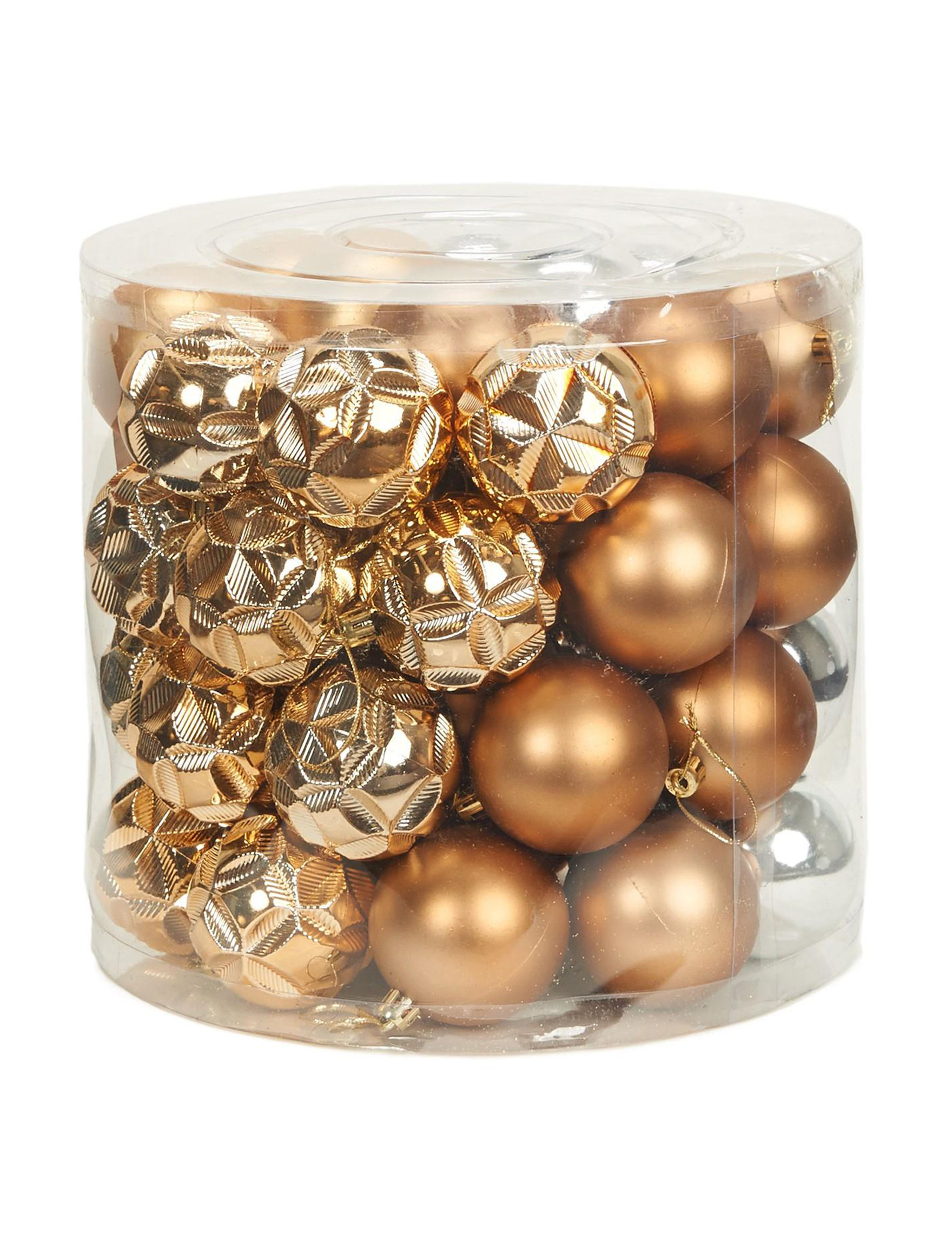 BuySeasons Gold Decorative Objects Ornaments Holiday Decor