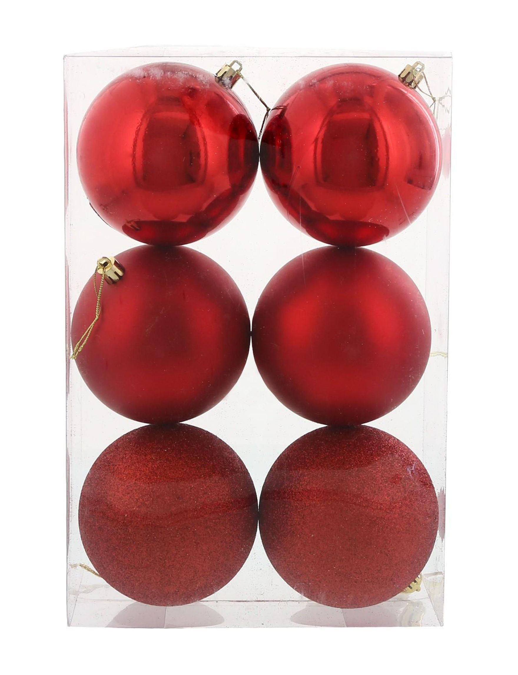 BuySeasons Red Decorative Objects Ornaments Holiday Decor