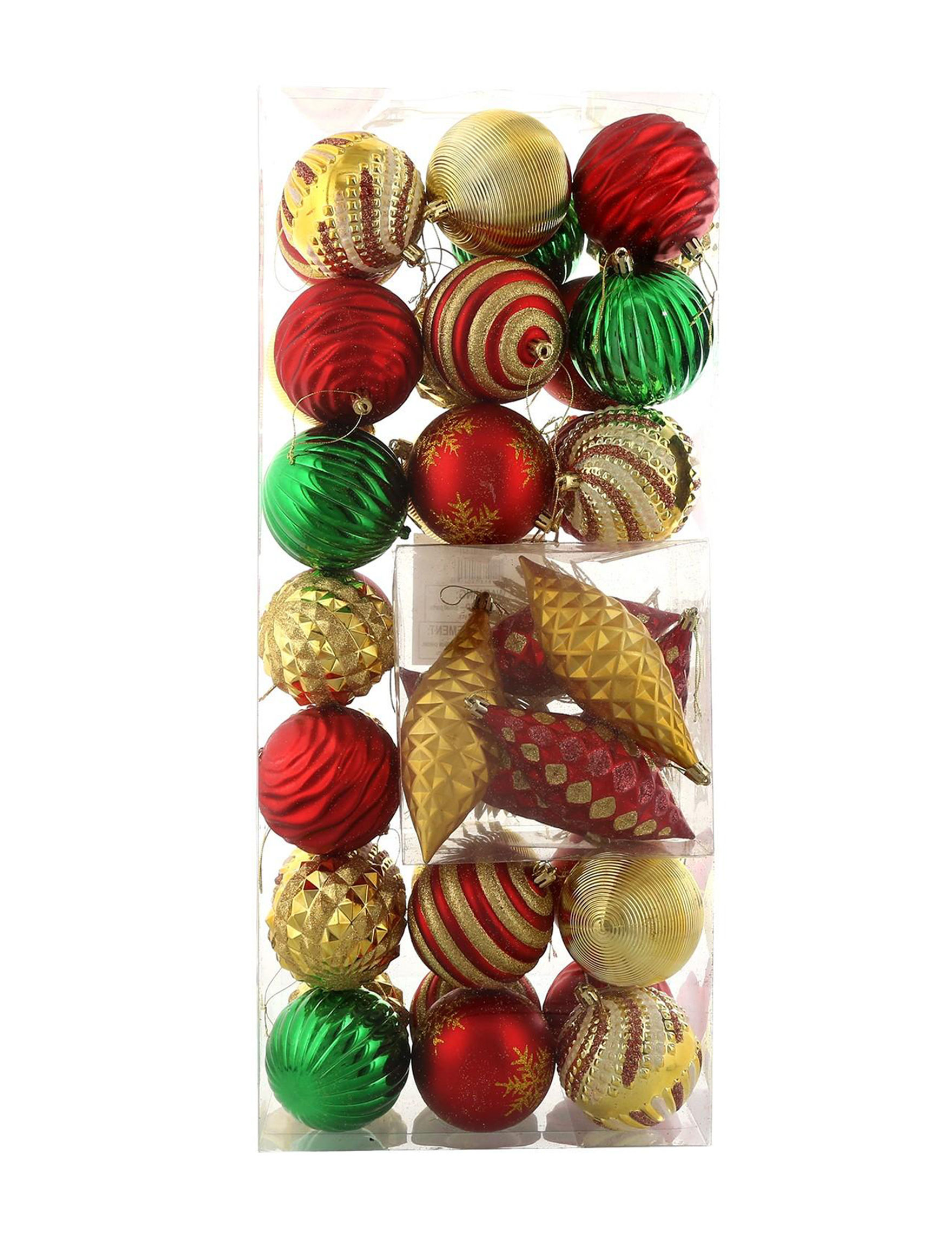 BuySeasons Red / Gold Decorative Objects Ornaments Holiday Decor