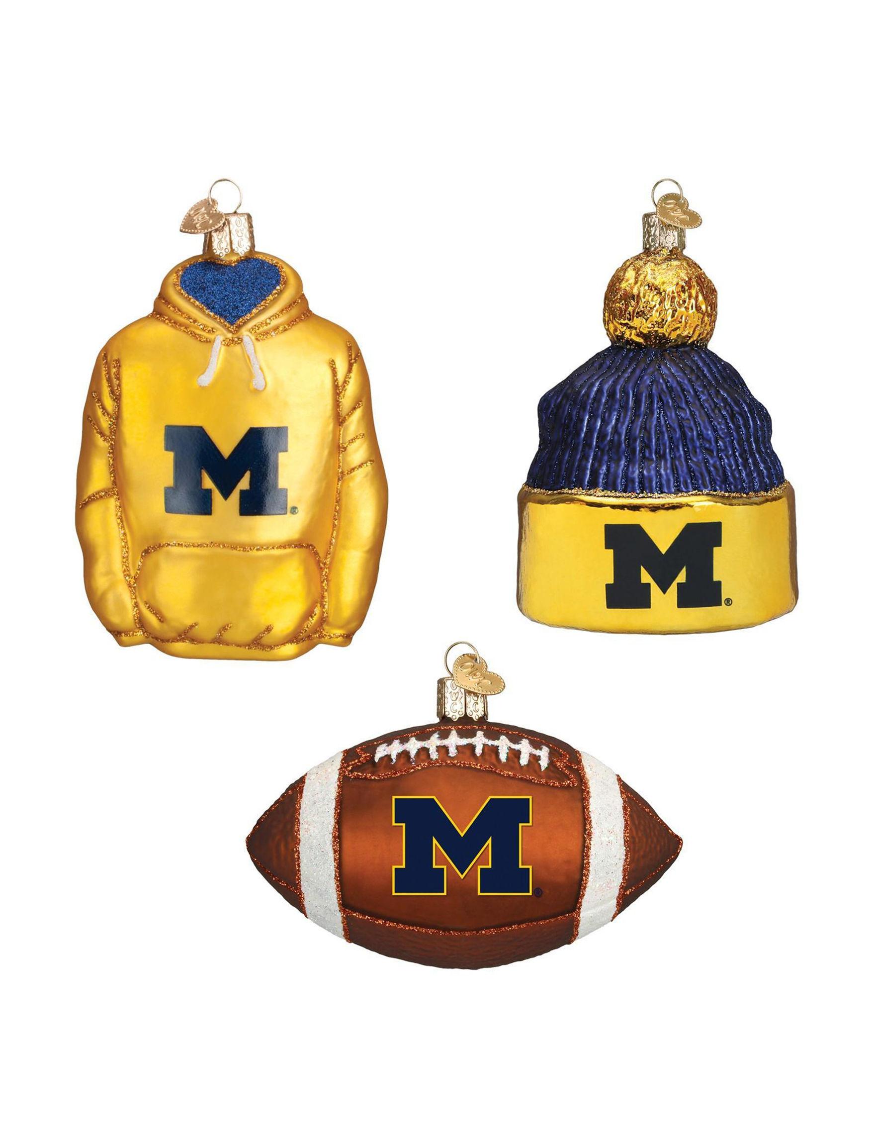 BuySeasons Navy / Gold Decorative Objects Ornaments Holiday Decor