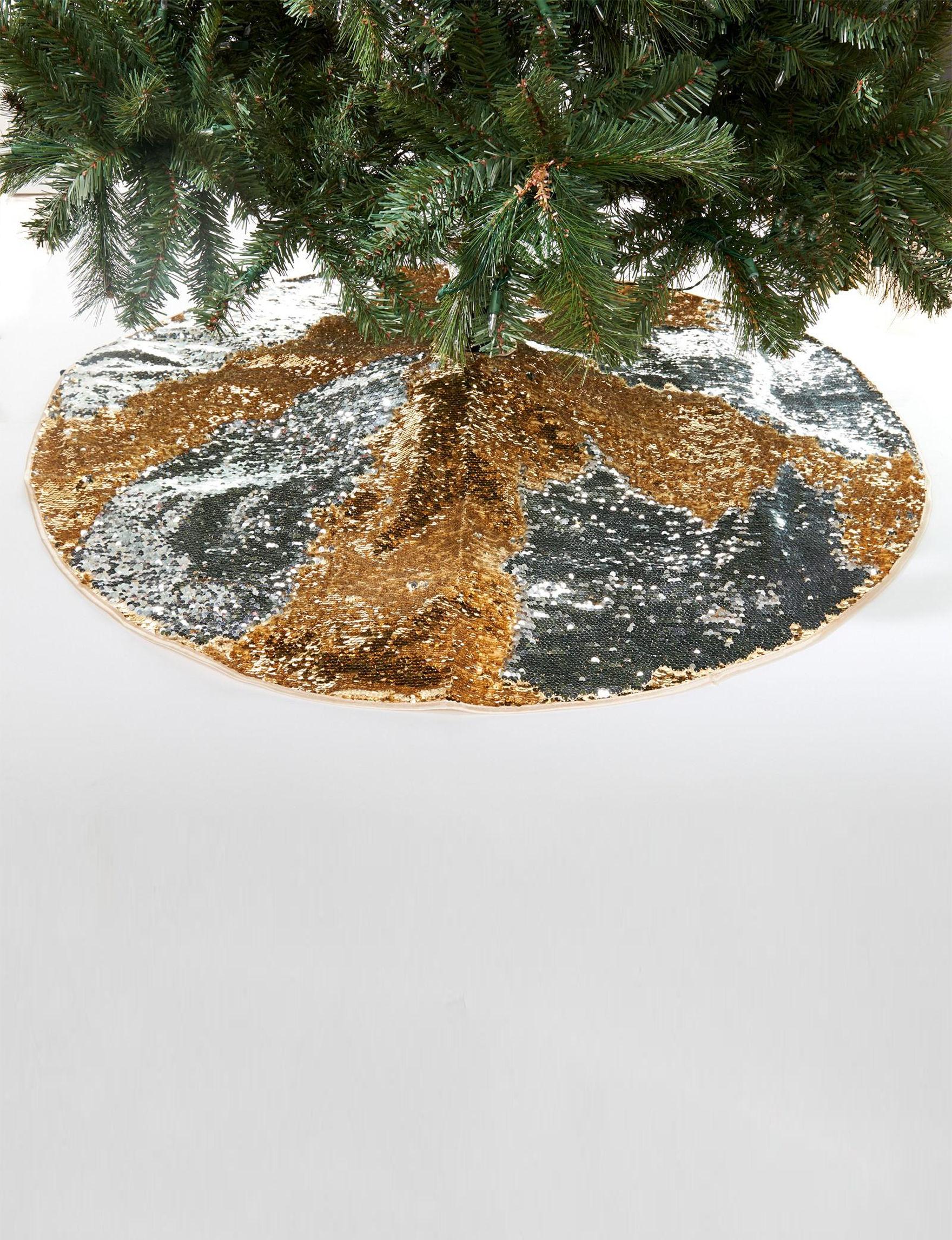 BuySeasons Silver / Gold Decorative Objects Stockings & Tree Skirts Holiday Decor