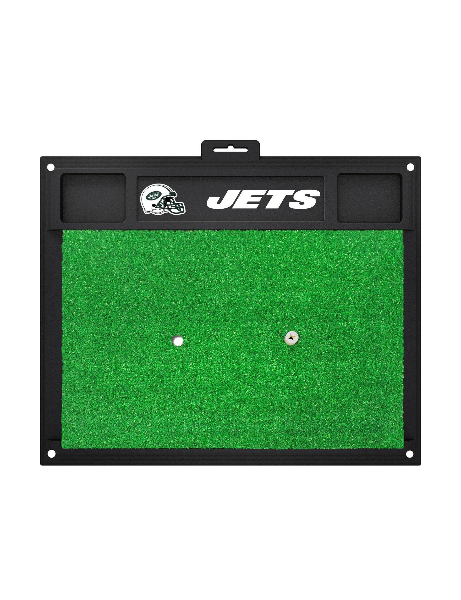 Fanmats Green / White Outdoor Rugs & Doormats Outdoor Decor