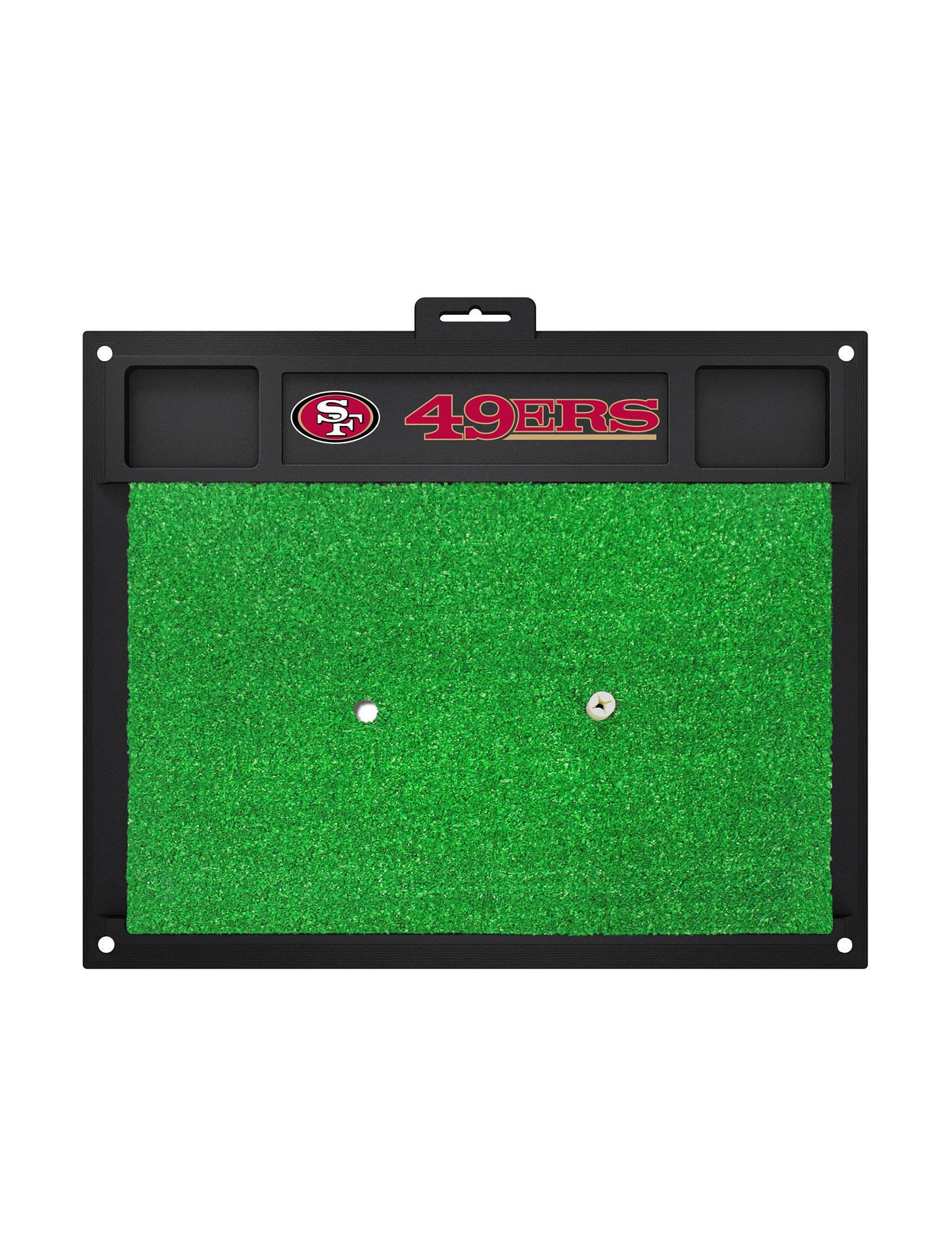 Fanmats Red / Black Outdoor Rugs & Doormats Outdoor Decor