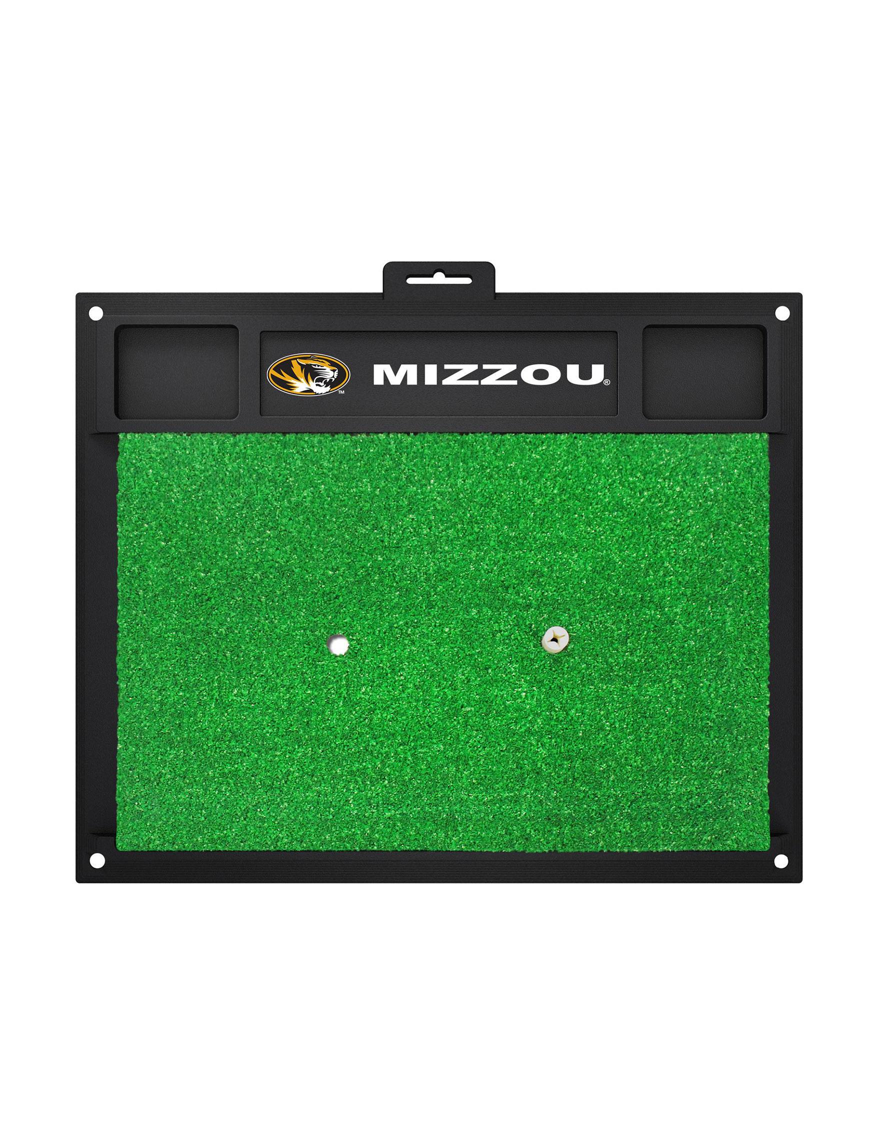 Fanmats Black / Gold Outdoor Rugs & Doormats Outdoor Decor