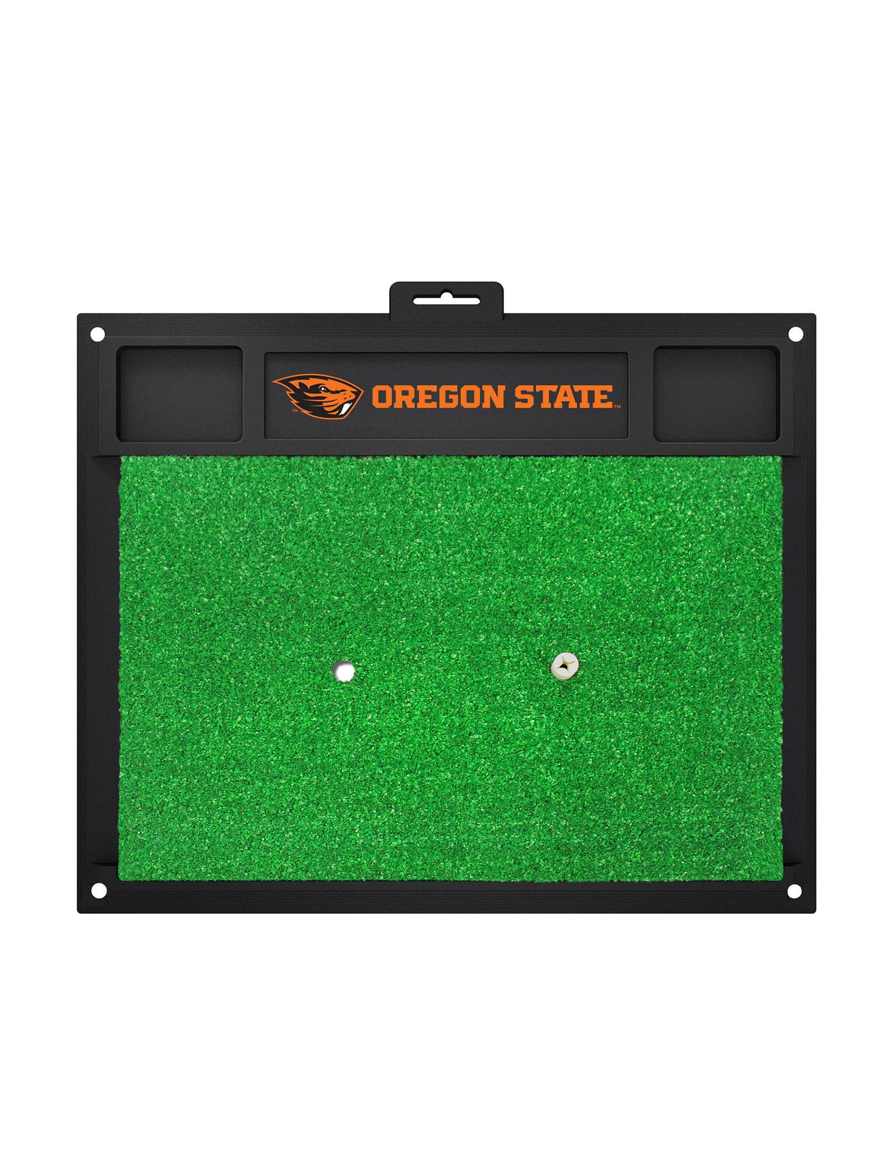 Fanmats Black / Orange Outdoor Rugs & Doormats Outdoor Decor