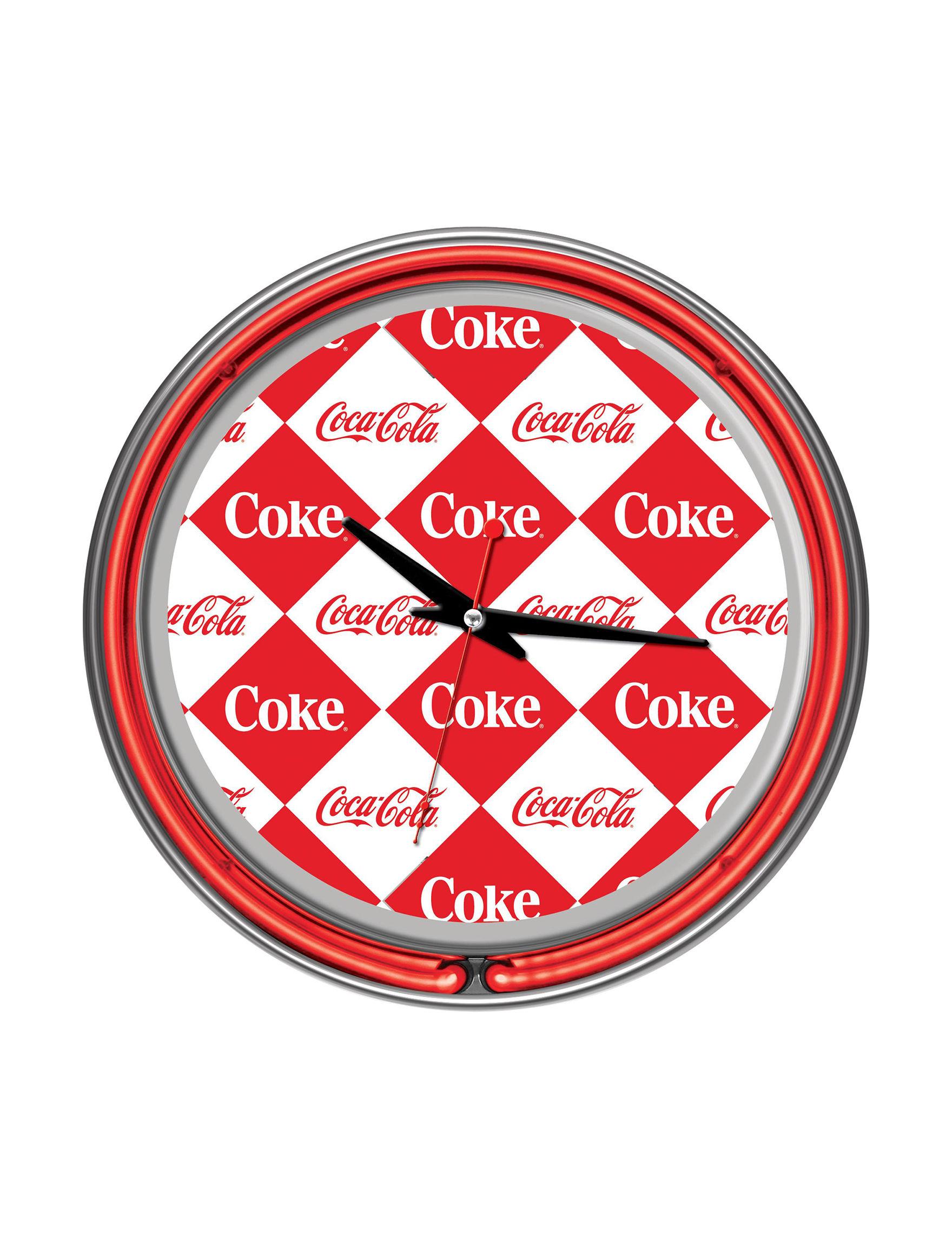 Coca Cola Red / White Wall Clocks Wall Decor