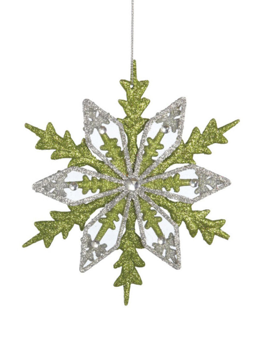 Midwest Green / Silver Decorative Objects Ornaments Holiday Decor