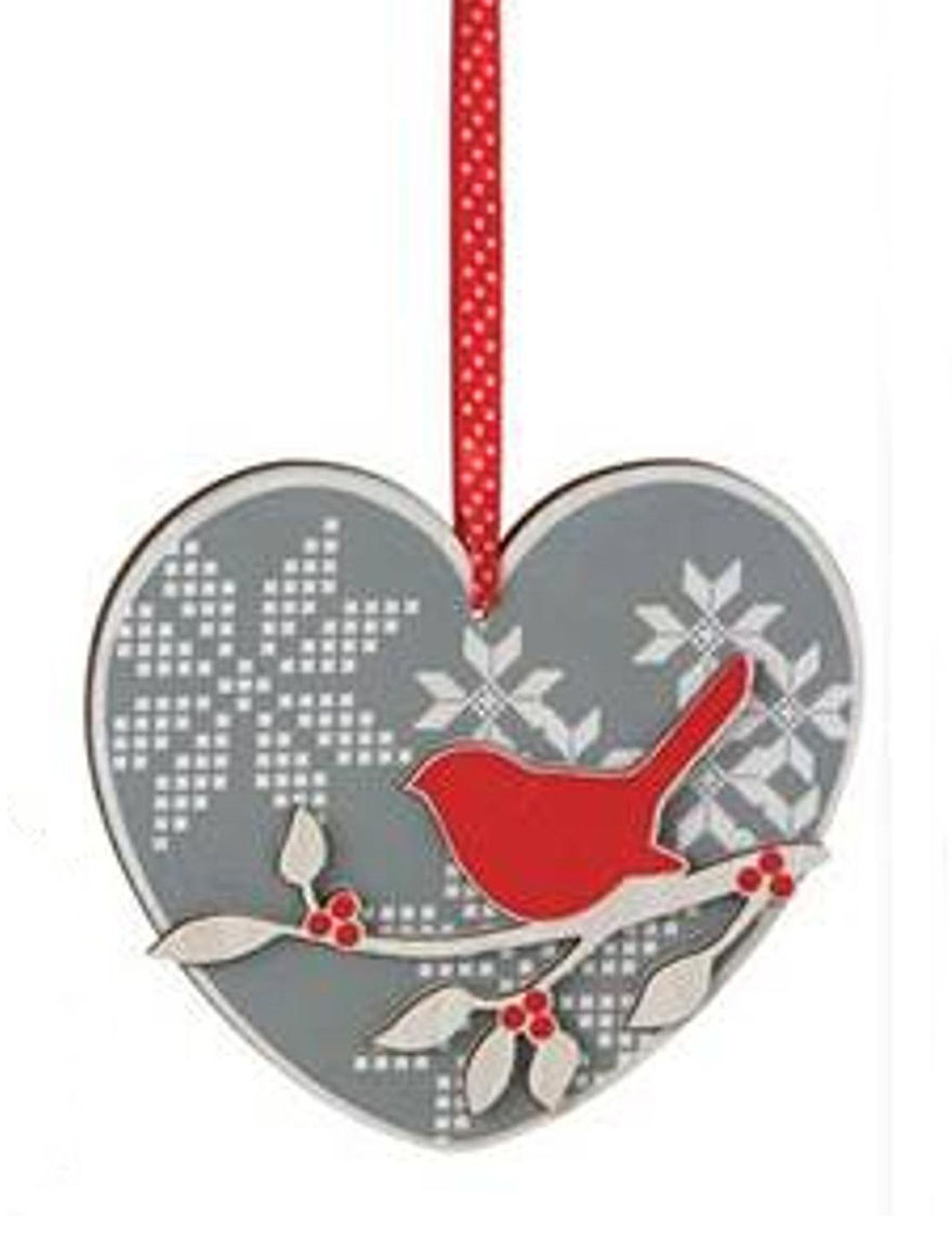 Midwest Grey / Red Decorative Objects Ornaments Holiday Decor