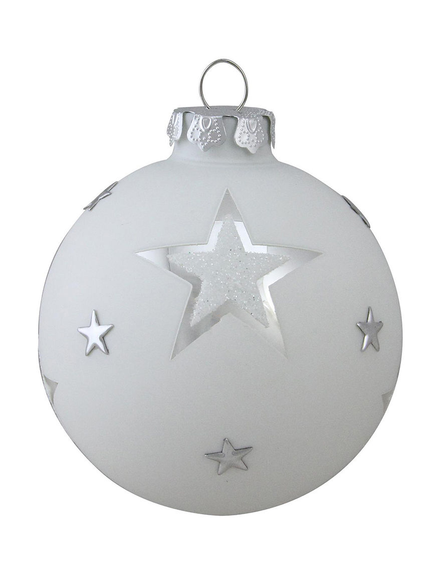 Christmas Central Silver Decorative Objects Ornaments Holiday Decor