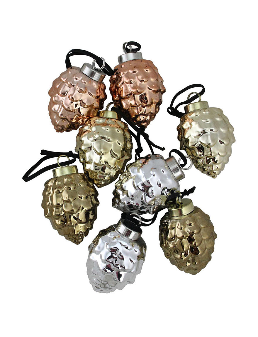 Christmas Central Silver / Gold Decorative Objects Ornaments Holiday Decor