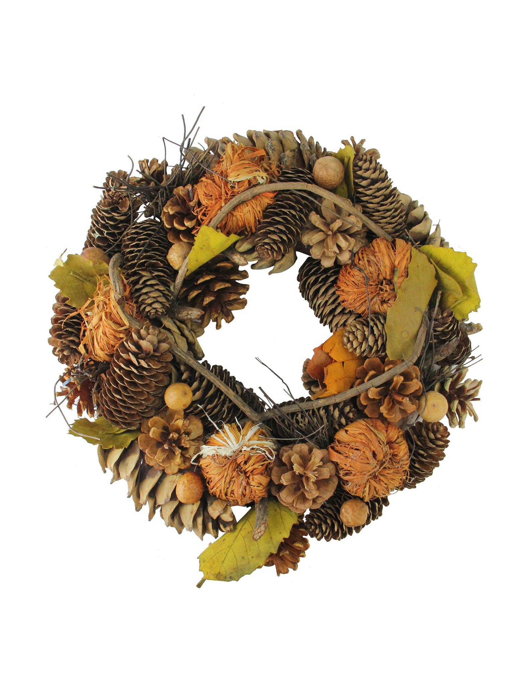 Northlight Brown Wreaths & Garland Holiday Decor