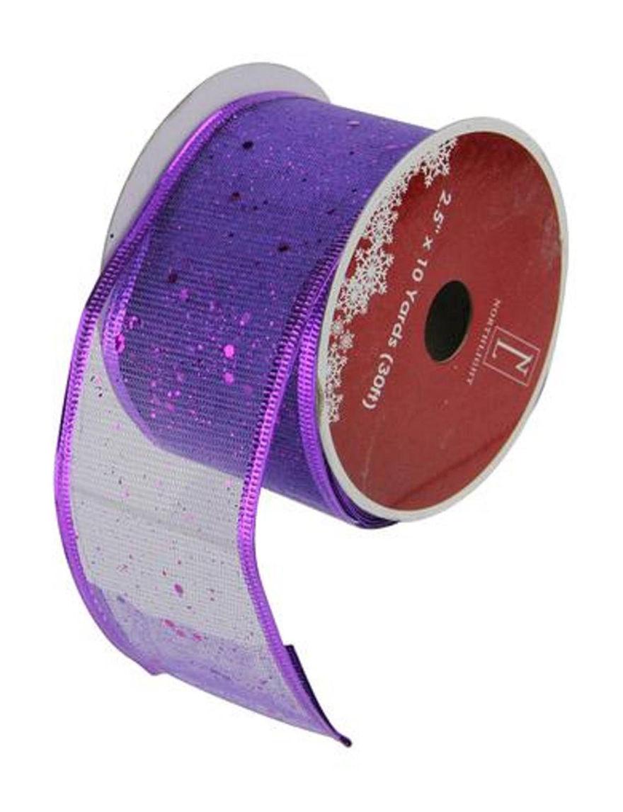 Northlight Purple Holiday Dining & Entertaining Ribbon Holiday Decor