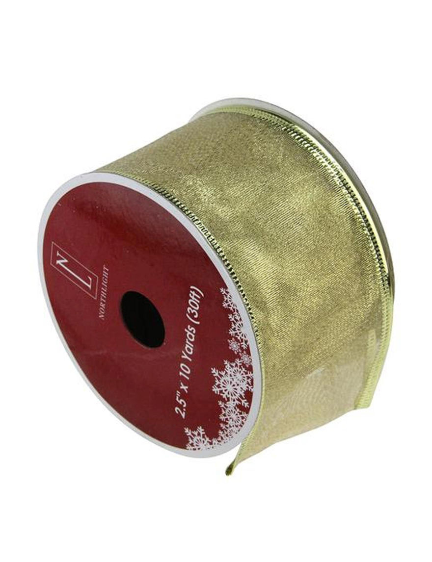 Northlight Gold Ribbon Holiday Decor