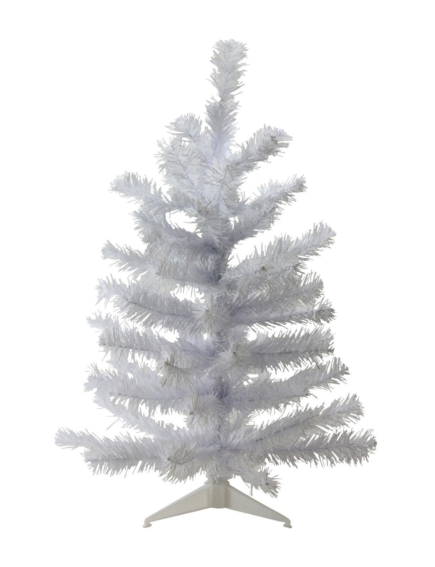 Northlight White Christmas Trees Decorative Objects Holiday Decor Home Accents