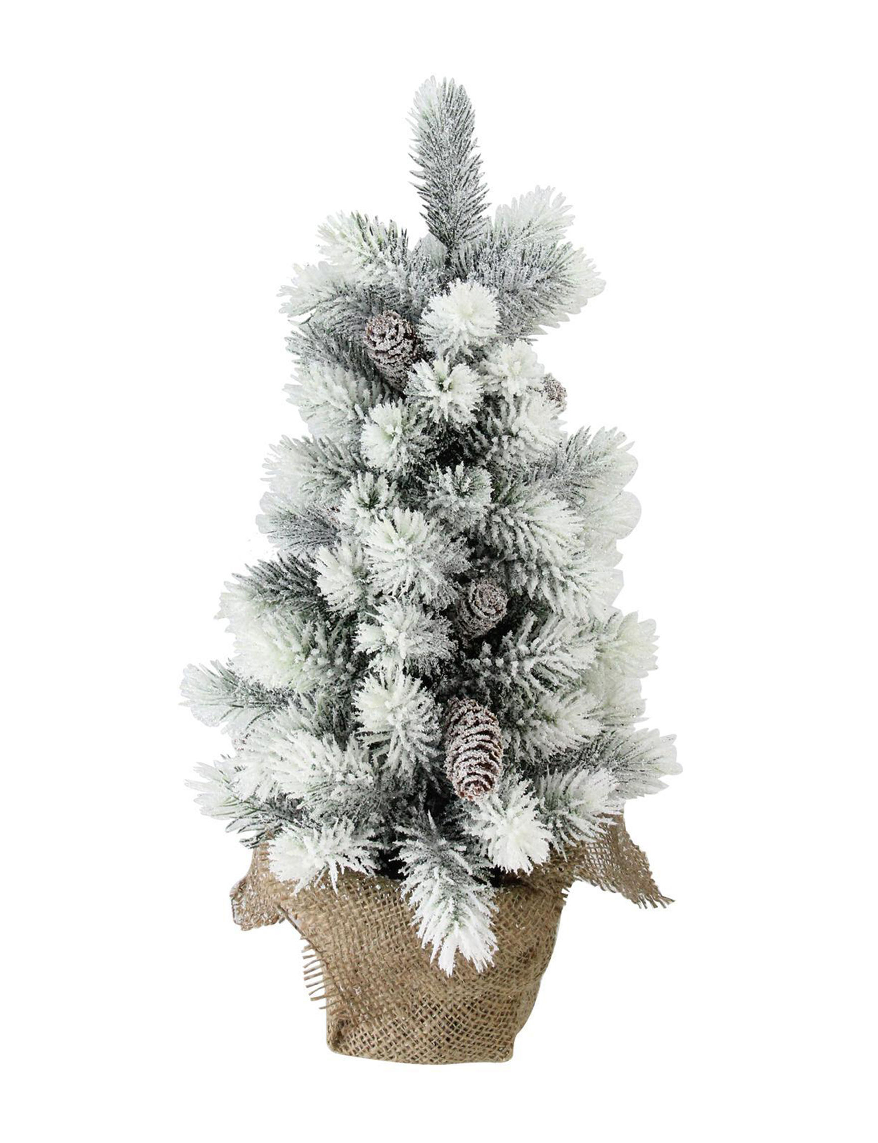 Northlight White / Brown Christmas Trees Decorative Objects Holiday Decor Home Accents