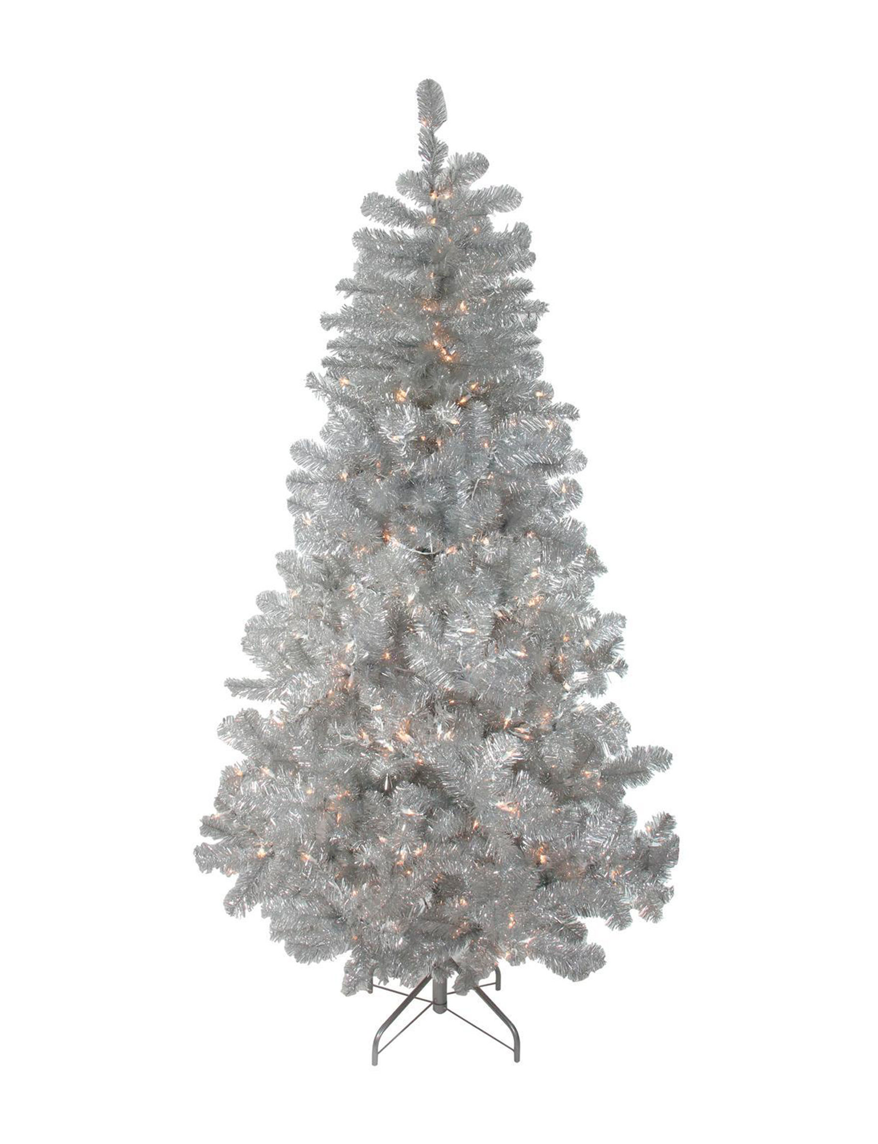 Northlight Silver Christmas Trees Decorative Objects Holiday Decor Home Accents