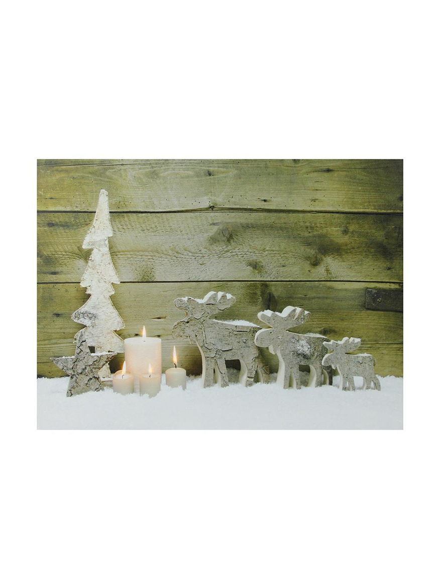 Northlight Brown / White Decorative Objects Wall Fixtures Holiday Decor Home Accents