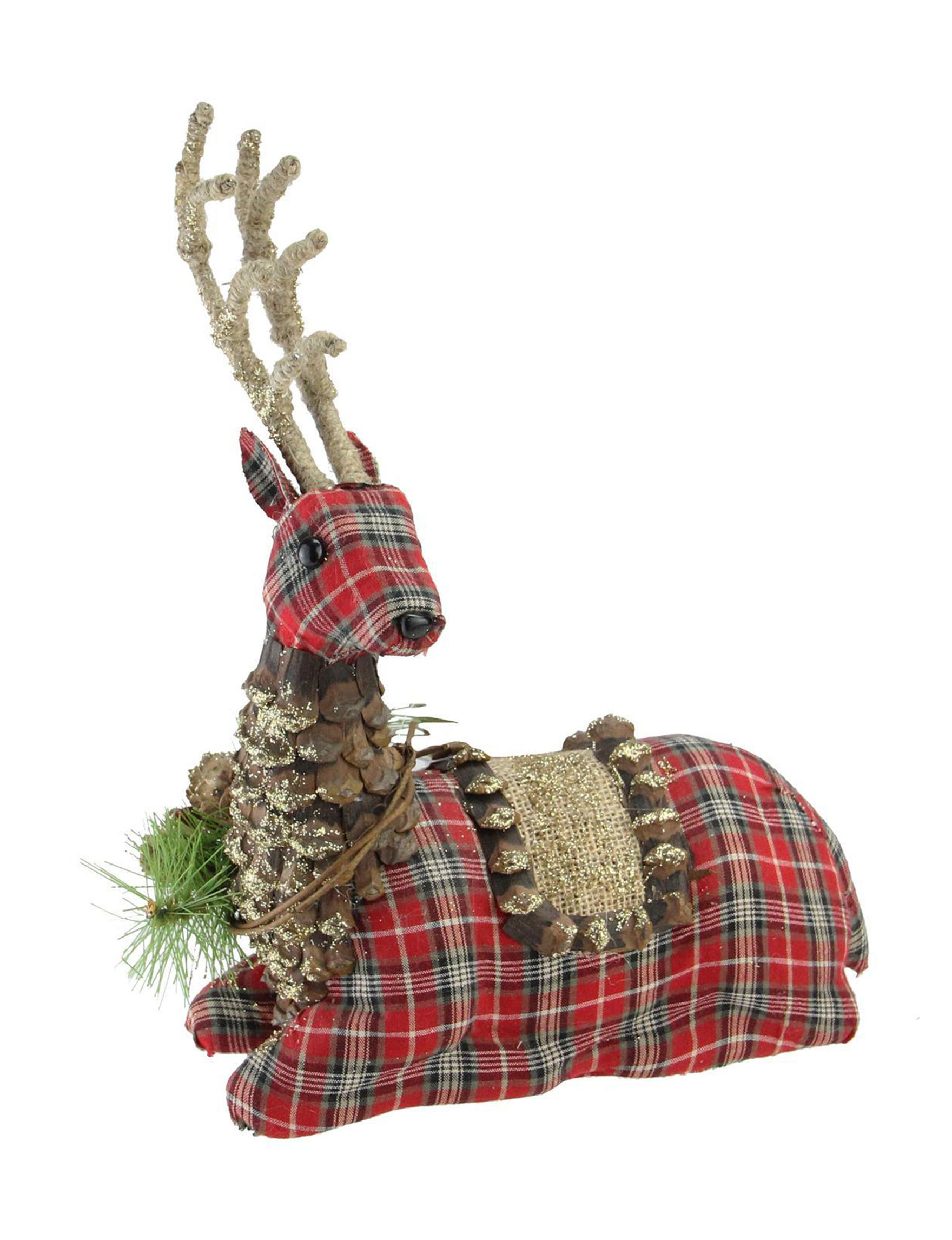 Northlight Plaid Decorative Objects Holiday Decor Home Accents