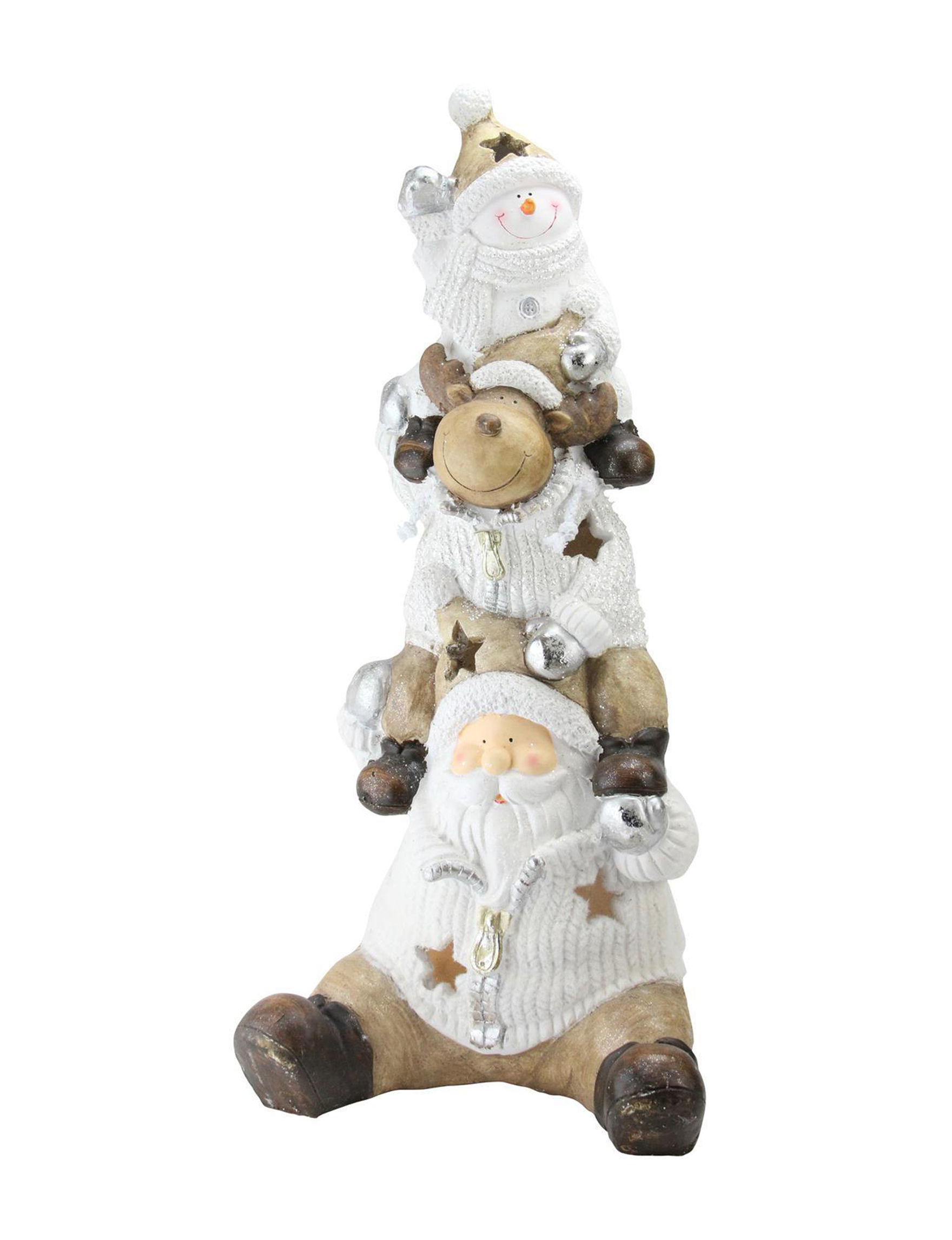 Northlight White / Brown Decorative Objects Holiday Decor Home Accents