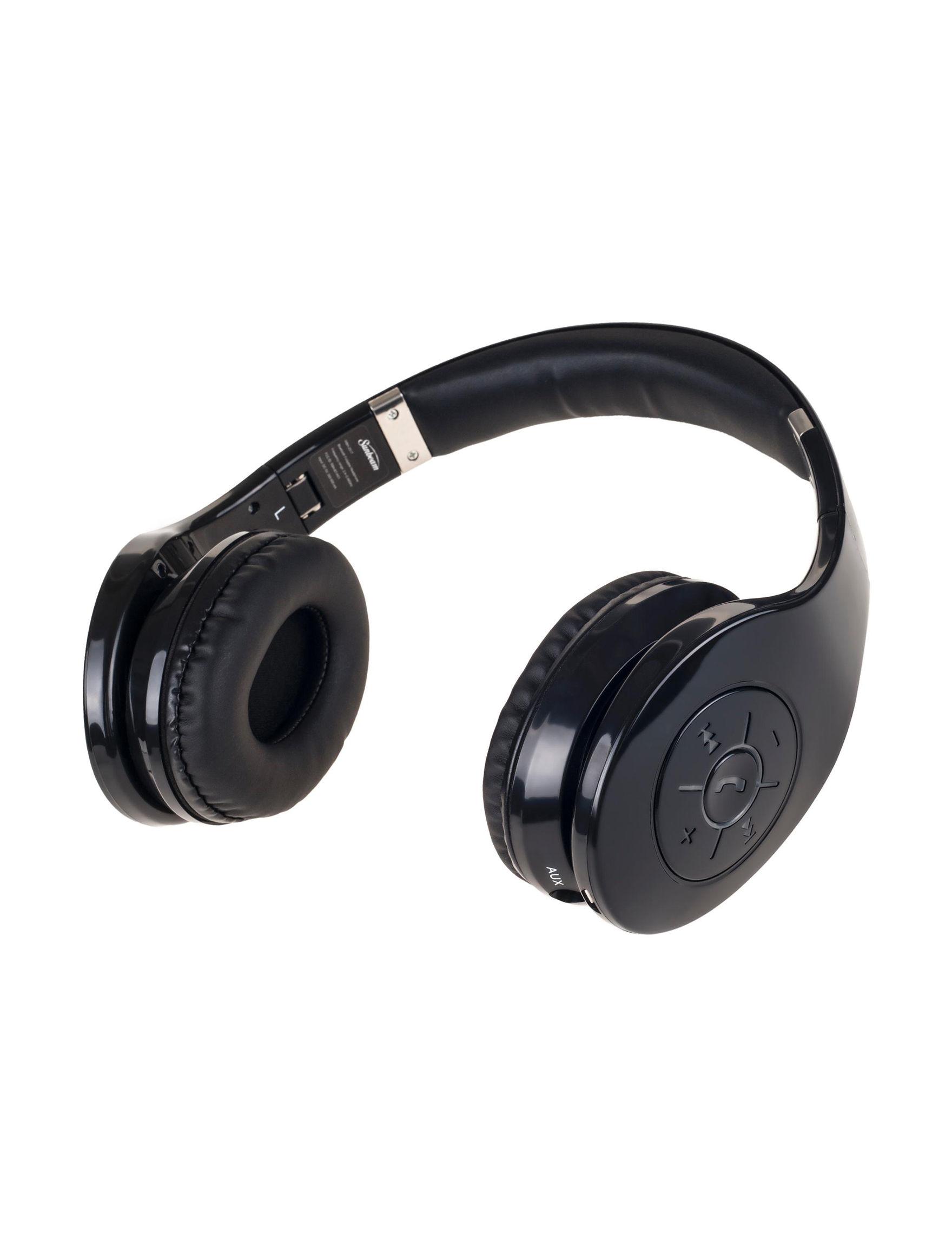 Sunbeam Black Headphones Home & Portable Audio