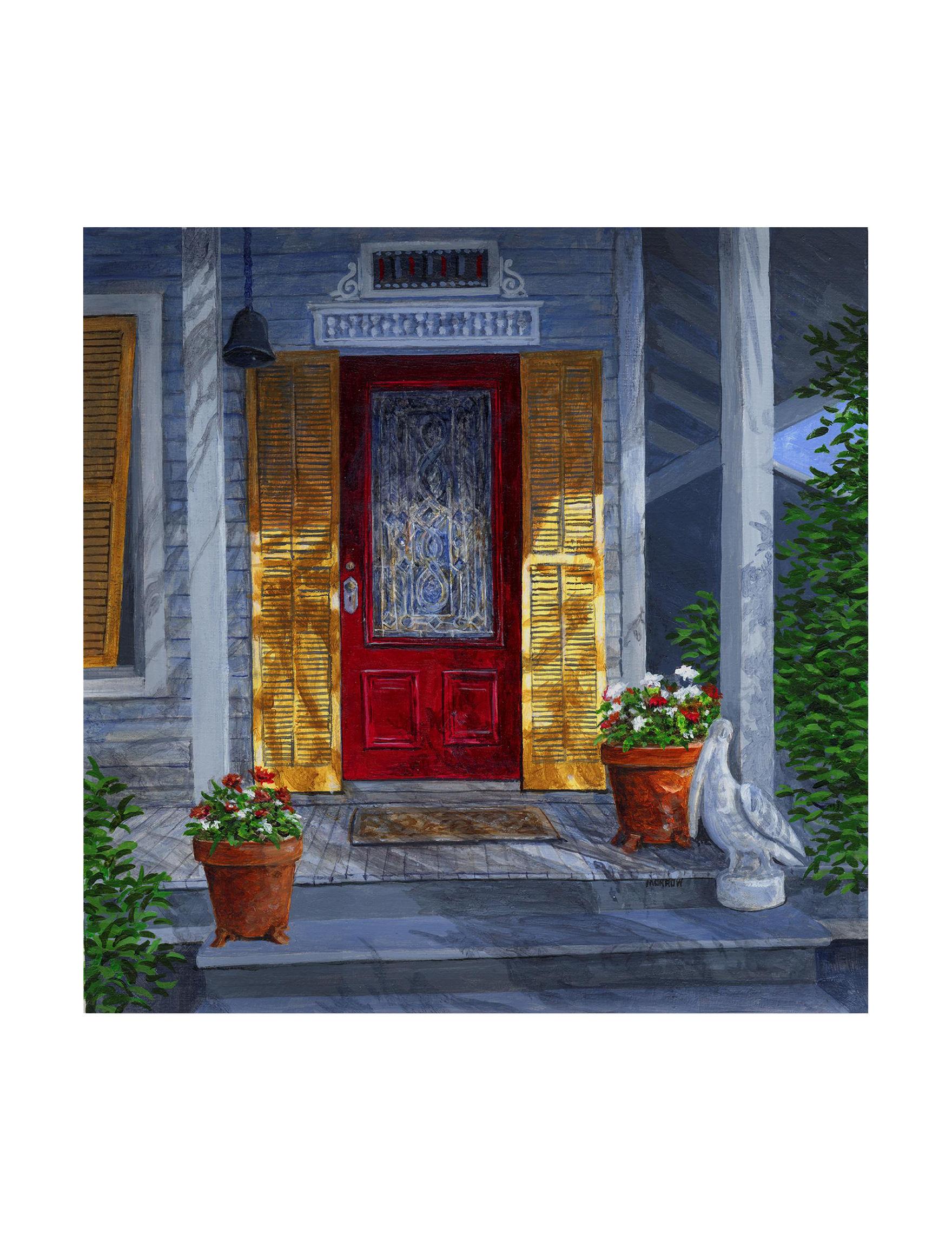 Trademark Fine Art Red Wall Art Home Accents Wall Decor