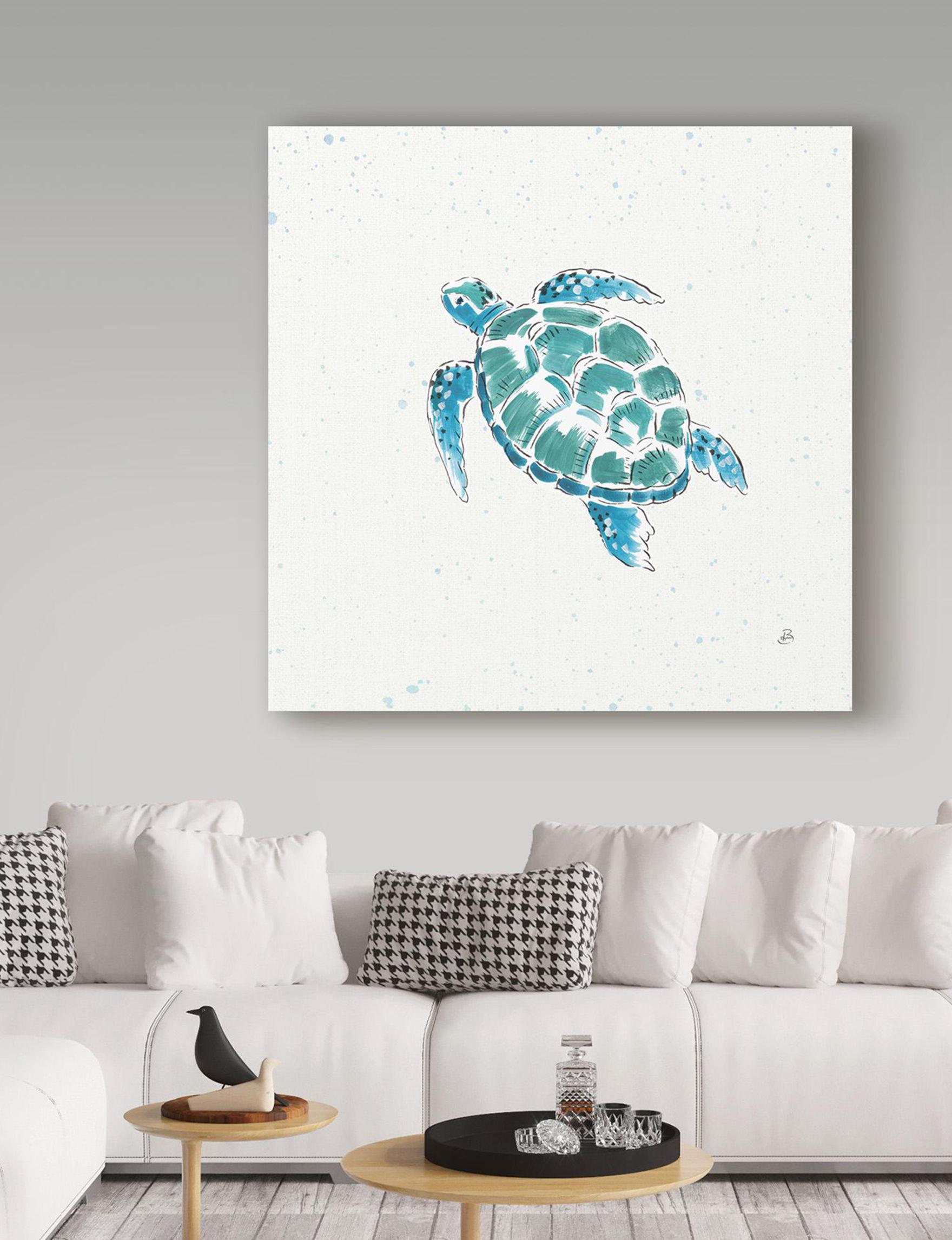 Trademark Fine Art Blue / Green Wall Art Home Accents Wall Decor
