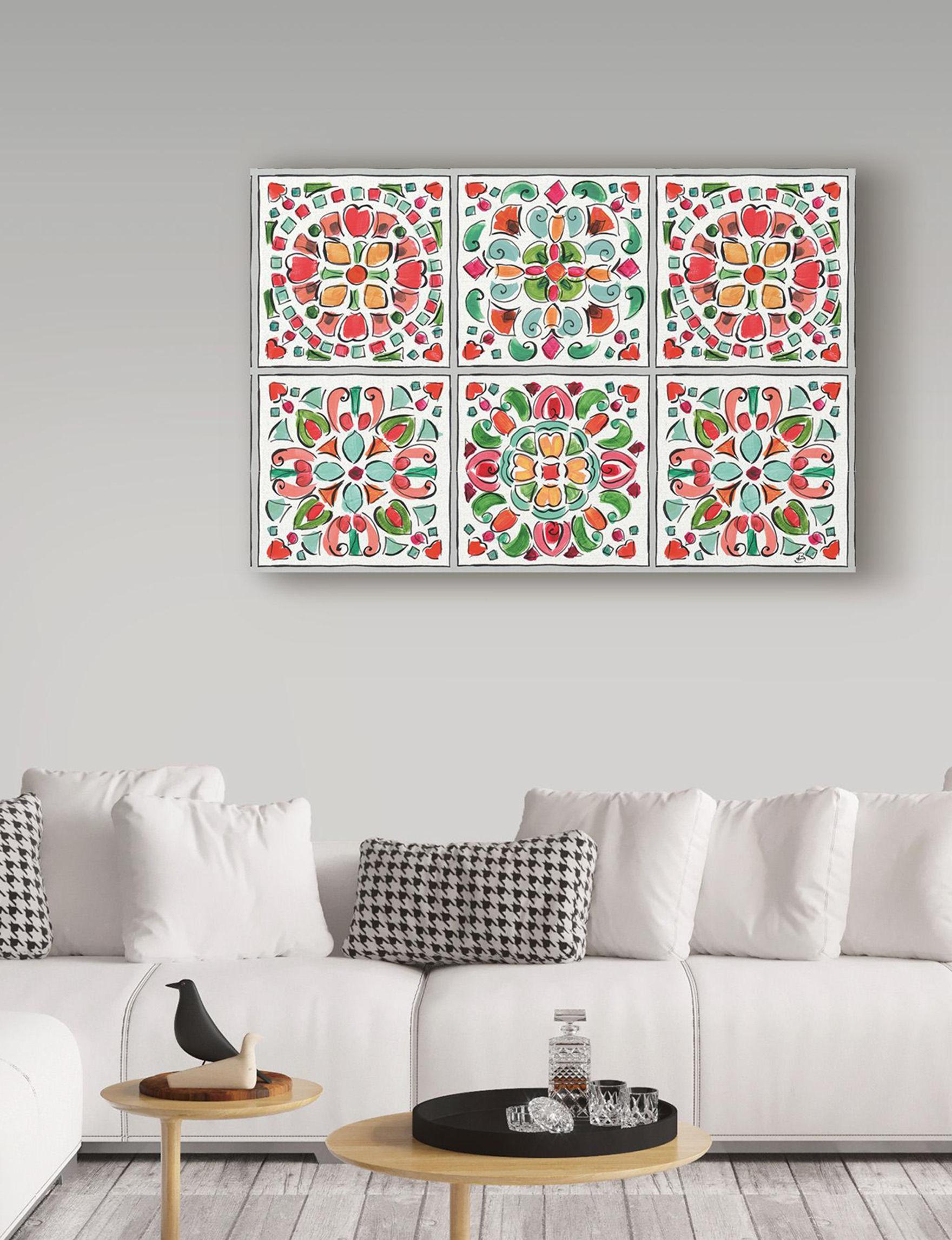 Trademark Fine Art Grey / Red Wall Art Home Accents Wall Decor