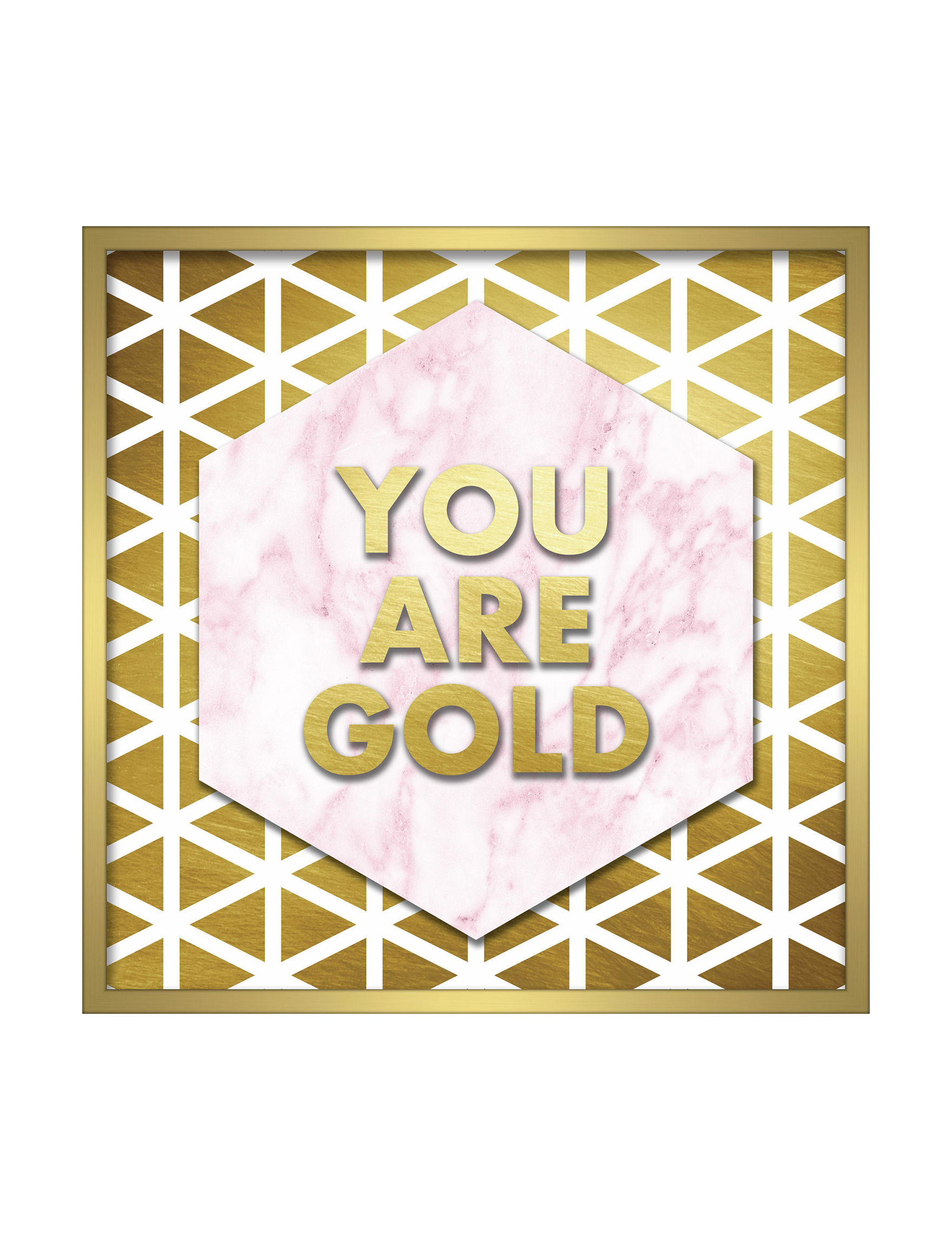 Linden Ave Pink / Gold Wall Art Wall Decor