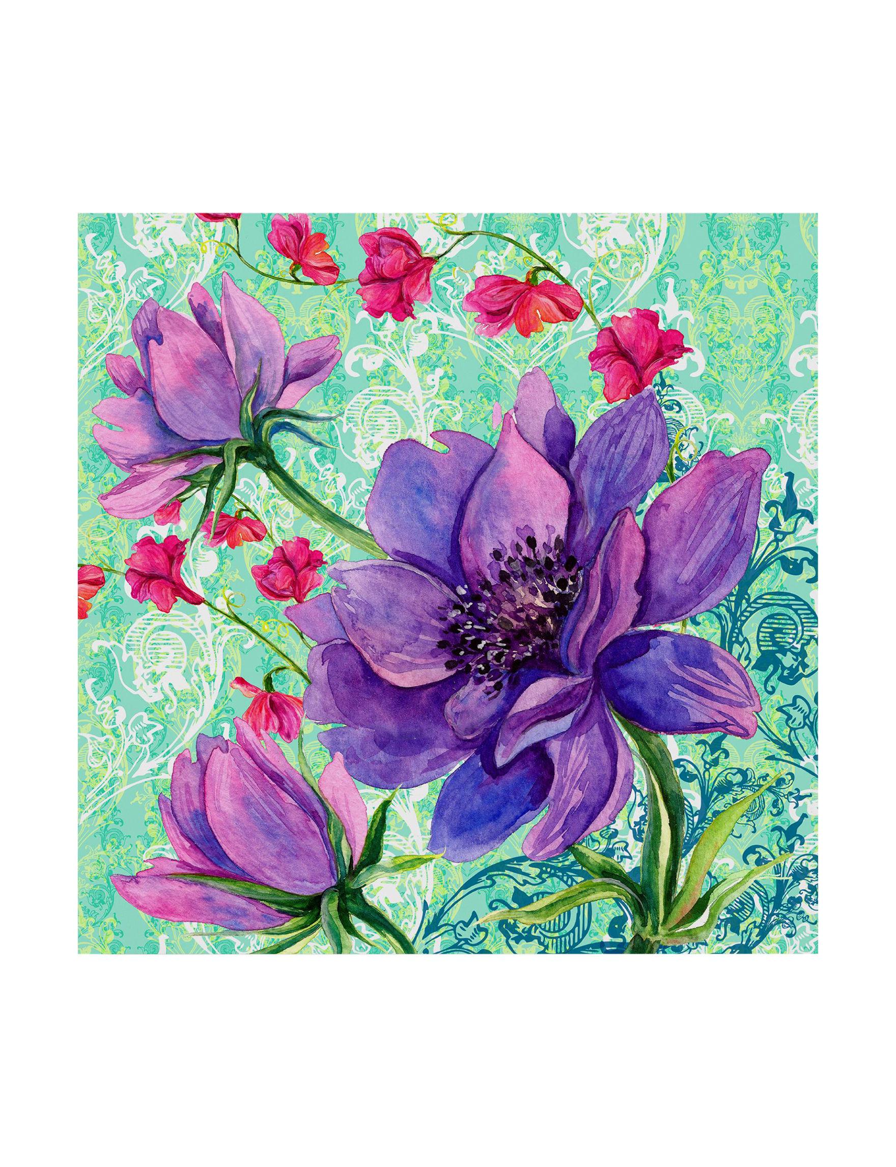 Trademark Fine Art Purple Multi Wall Art Wall Decor