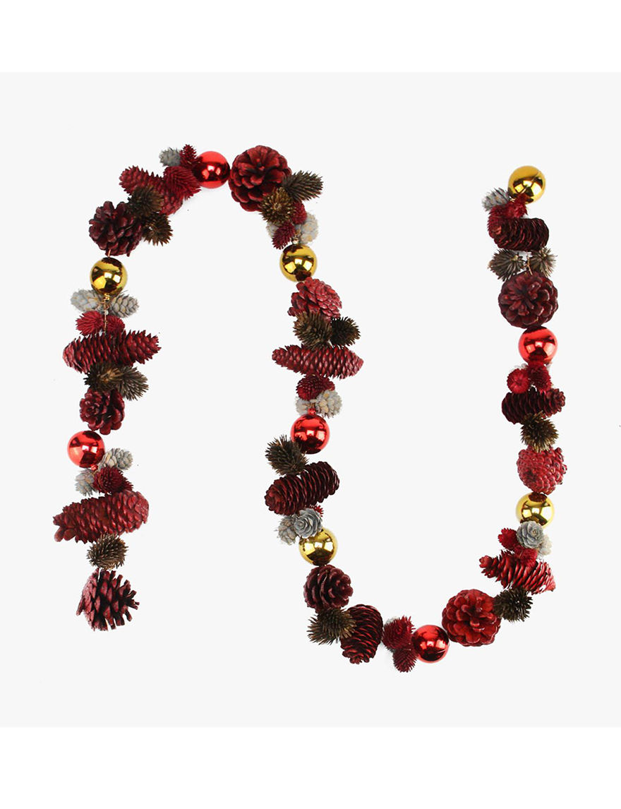 Northlight Red Decorative Objects Wreaths & Garland Holiday Decor